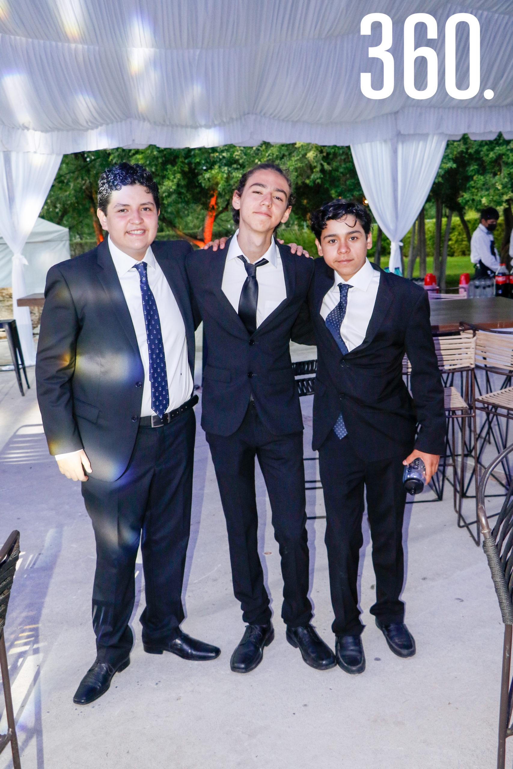 Nicolás Valdés, Isaac Jiménez y Marco Villarreal.