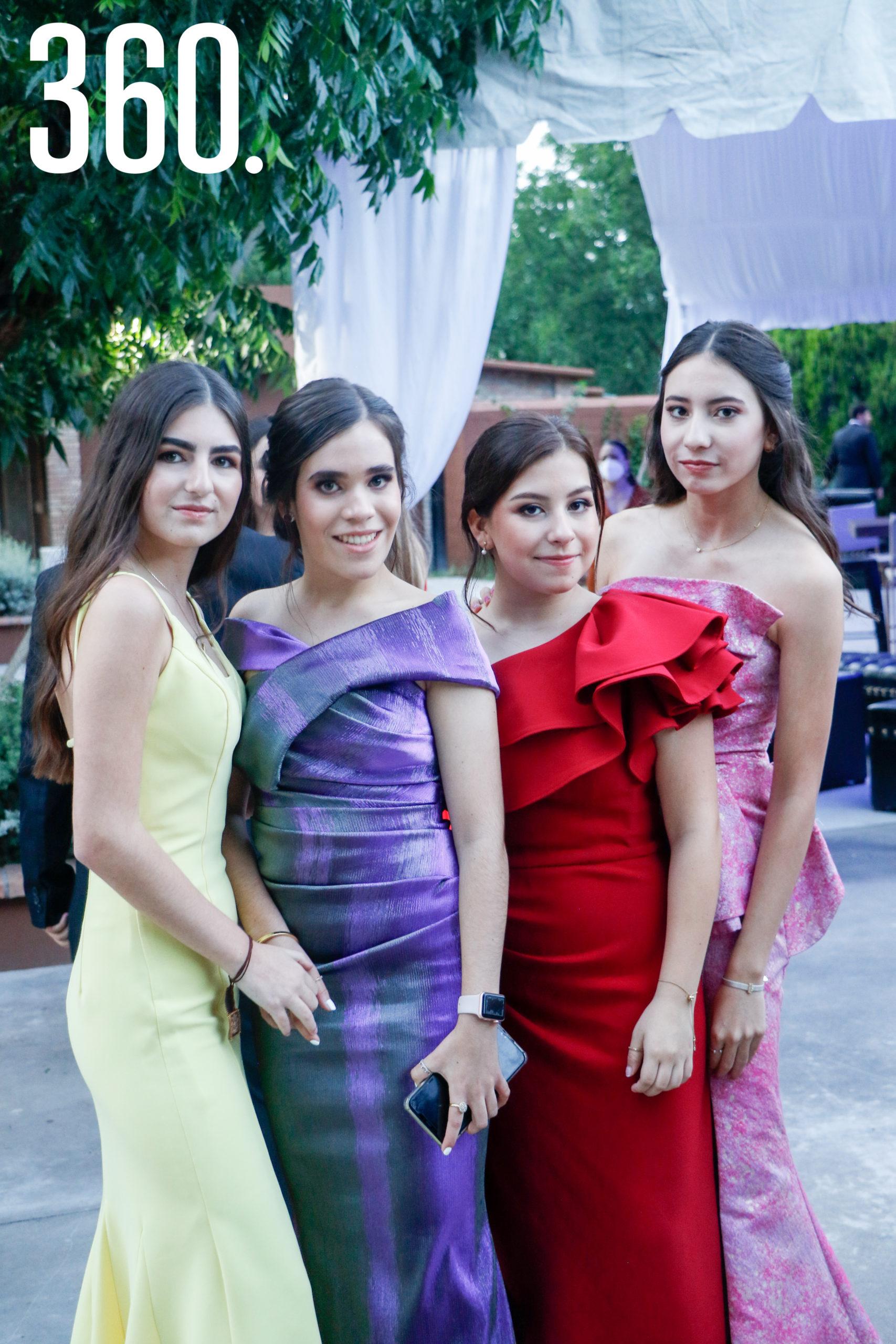 Fernanda Garza, Mariela del Bosque, Arely Cortés y Lannah Ávalos.