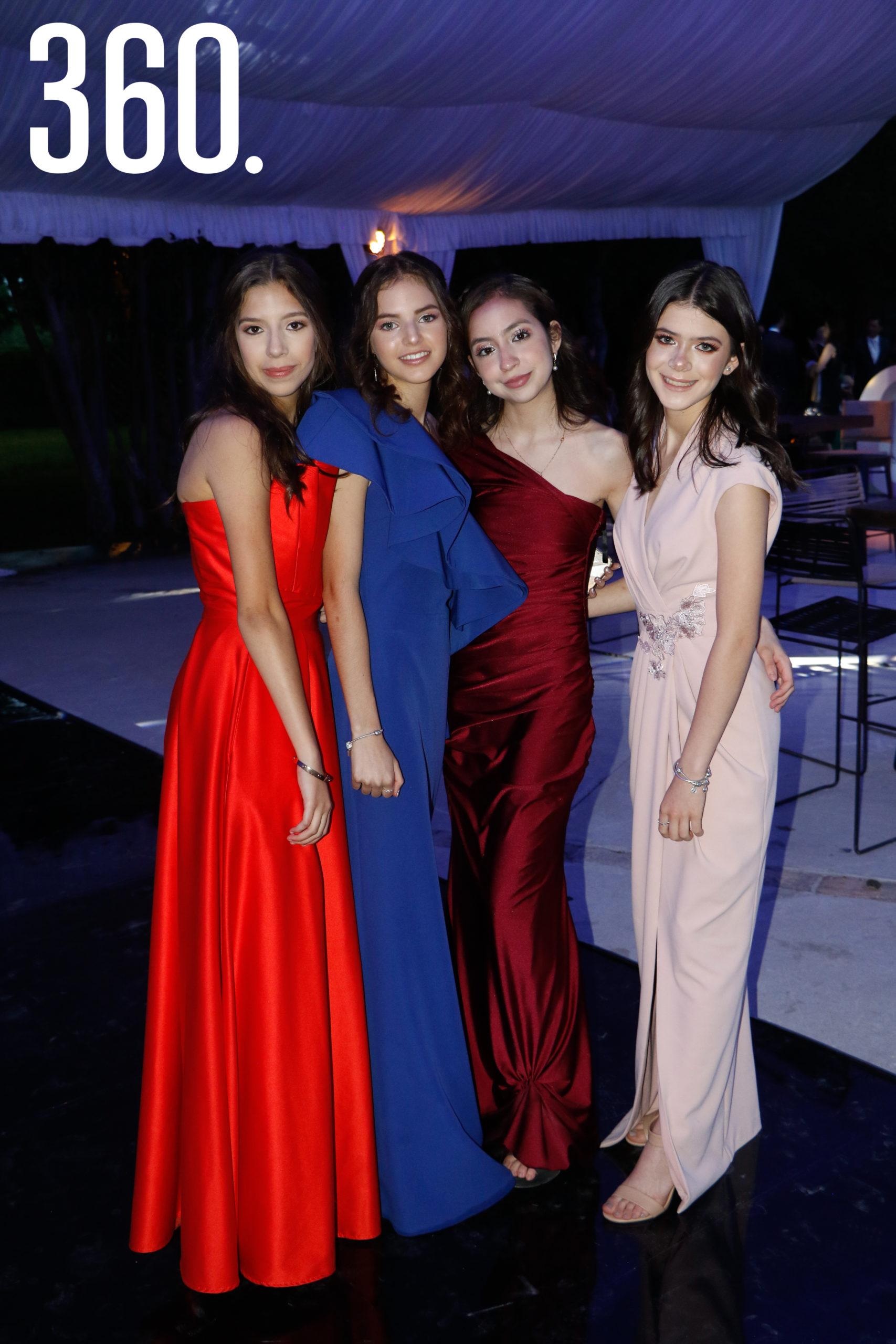 Yalile Rodríguez, Marifer Verduzco, Paula Fuentes y Jimena Basáñez.
