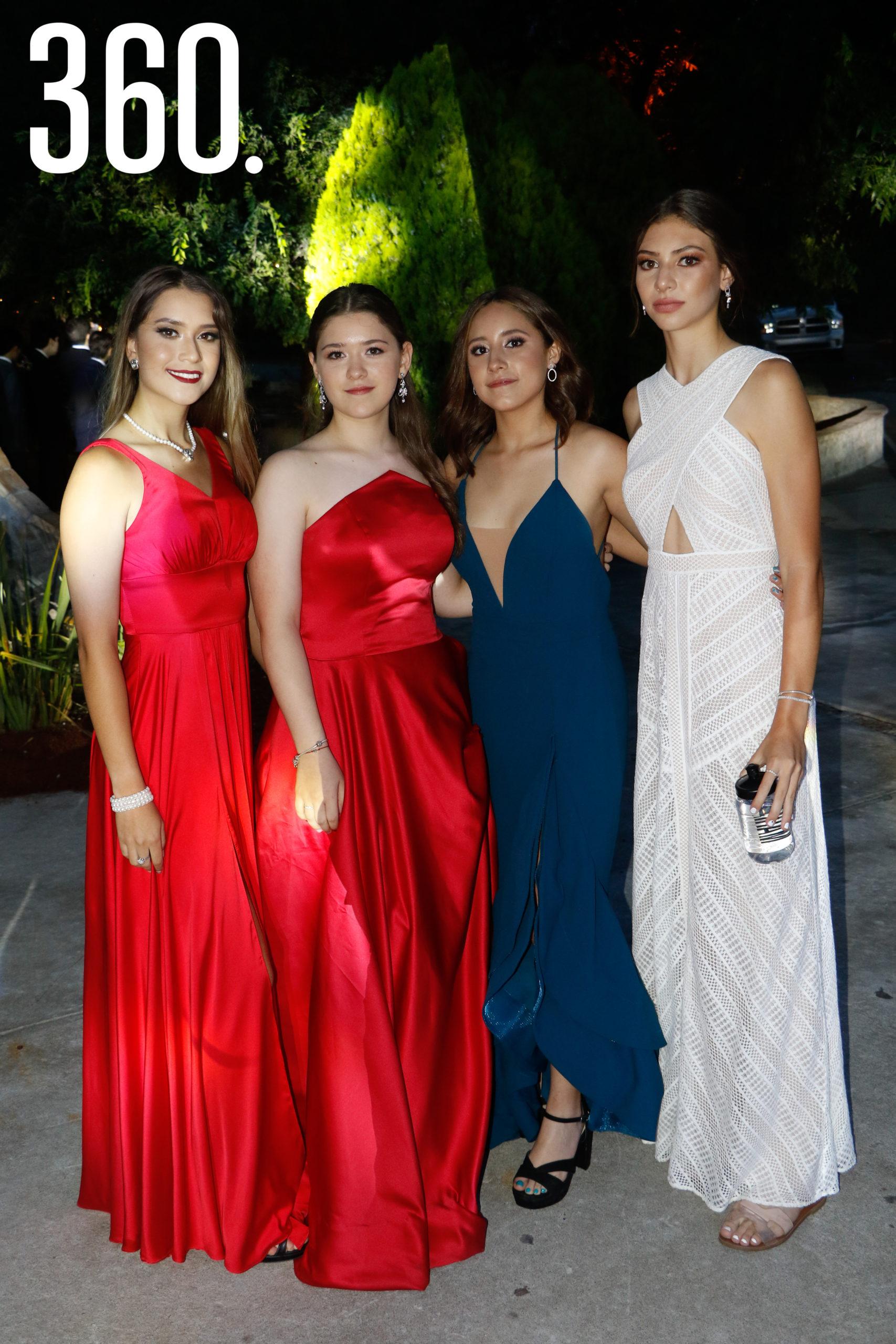 Ana Paloma Hernández, Mariángela Lozano, Isabel Sierra y Mariana Maldonado.