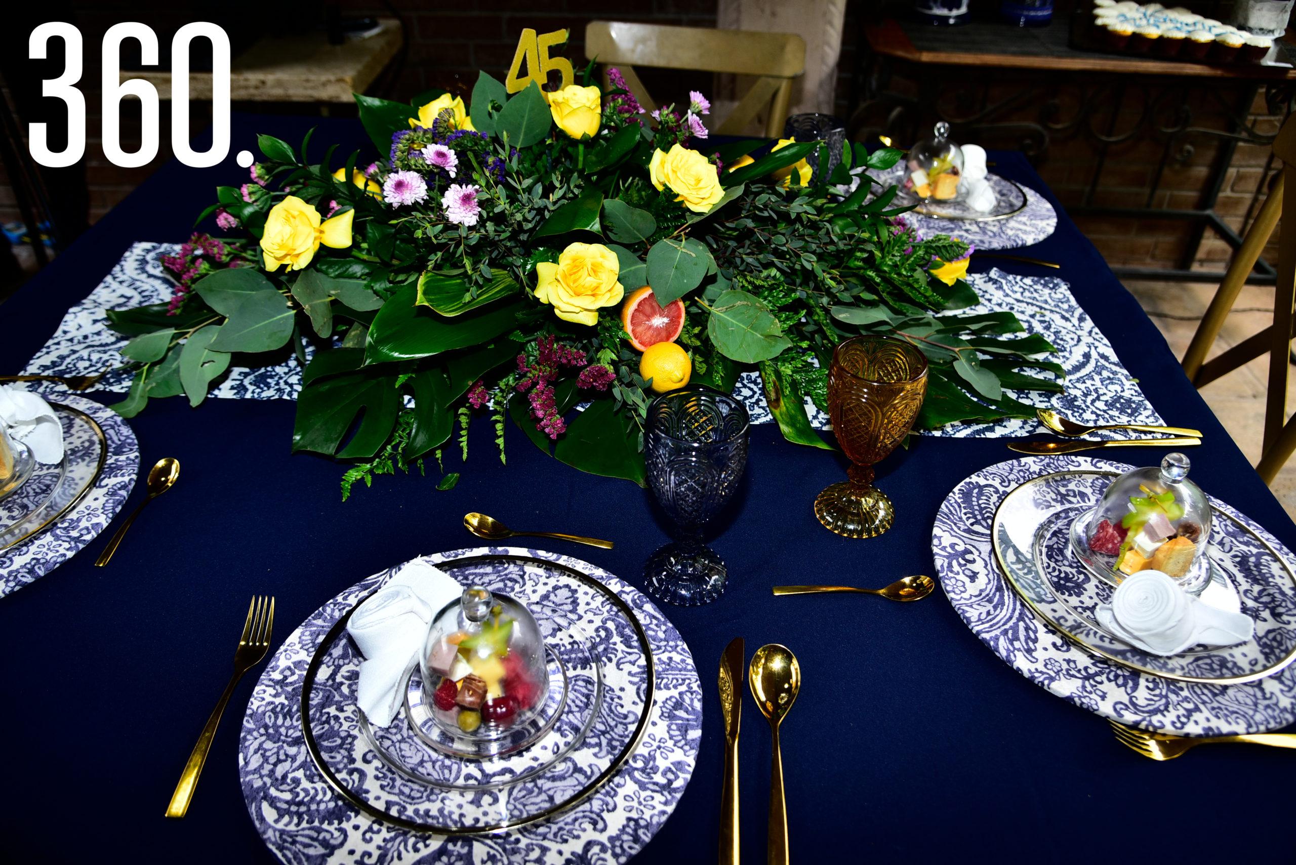 Decoración de las mesas.