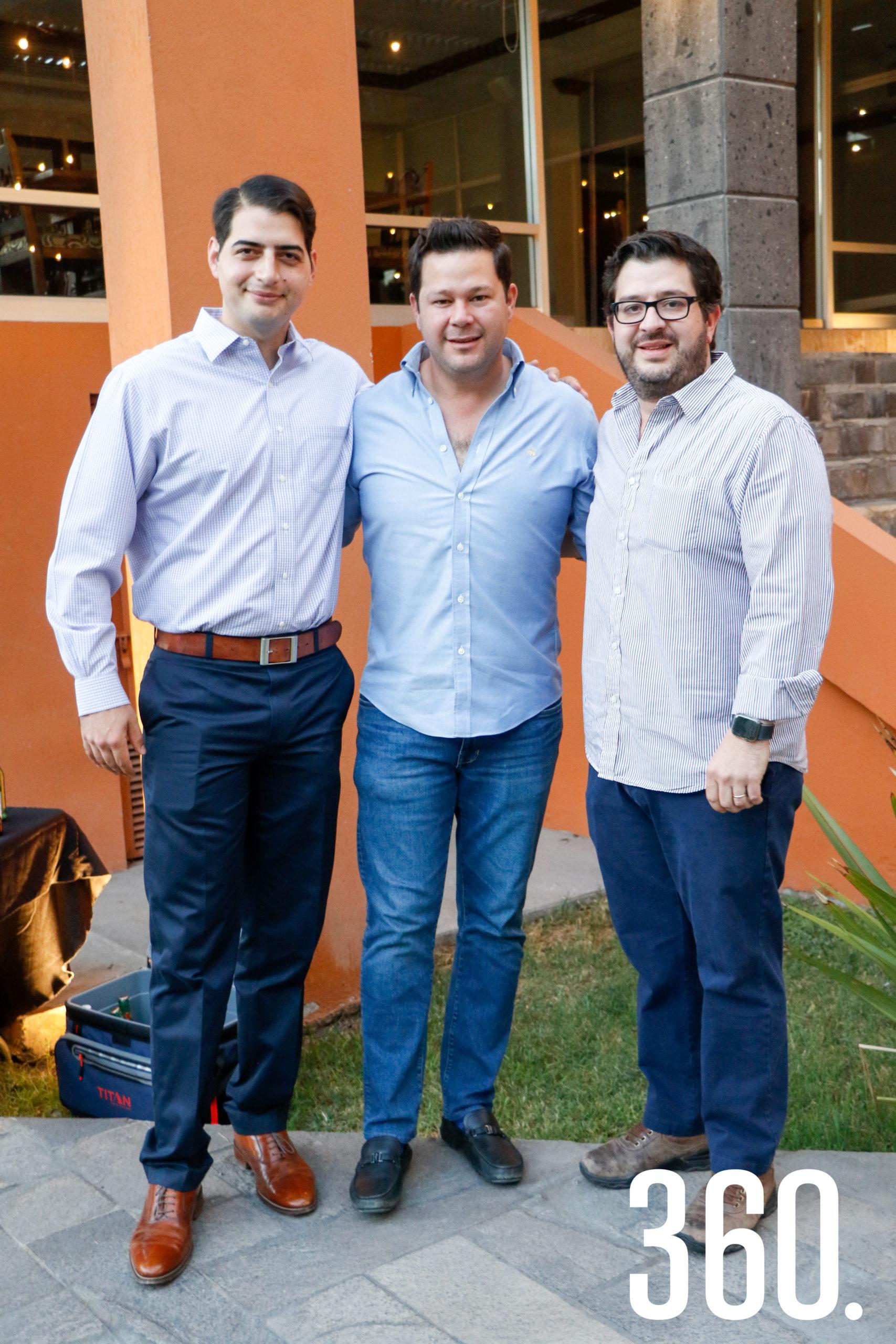 Javier Gutiérrez, Carlos García y Carlos Samperio.