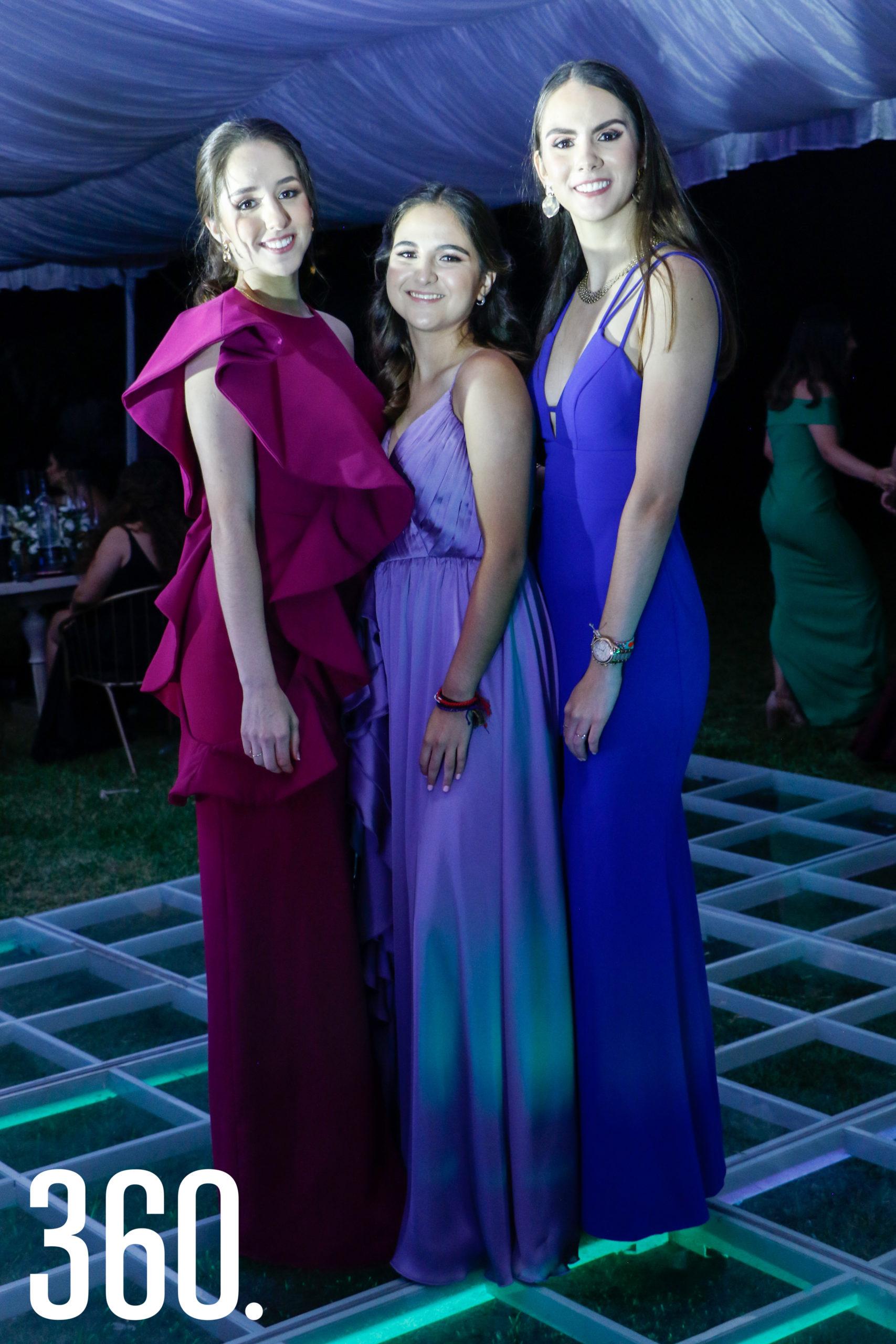 Tey Garza, Laura Sánchez y Alexa Burelo.