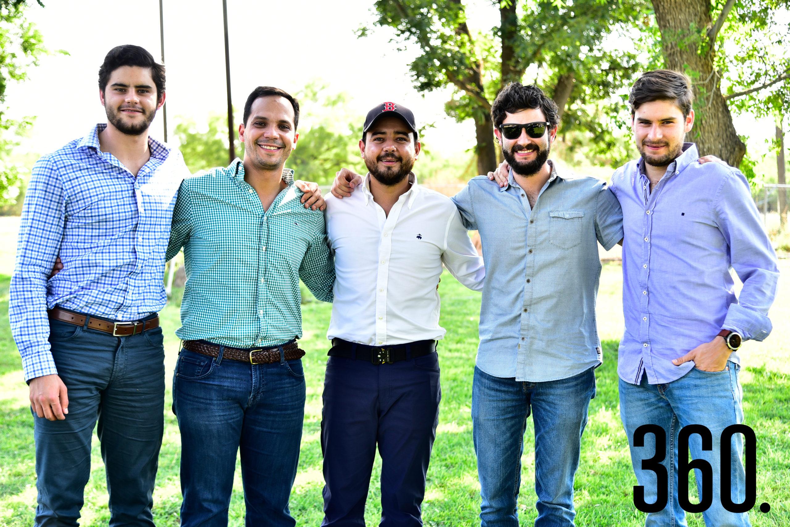 Ricardo Herrera, Ricardo Cabello, Eduardo Dávila, Polo y Rodrigo Herrera.