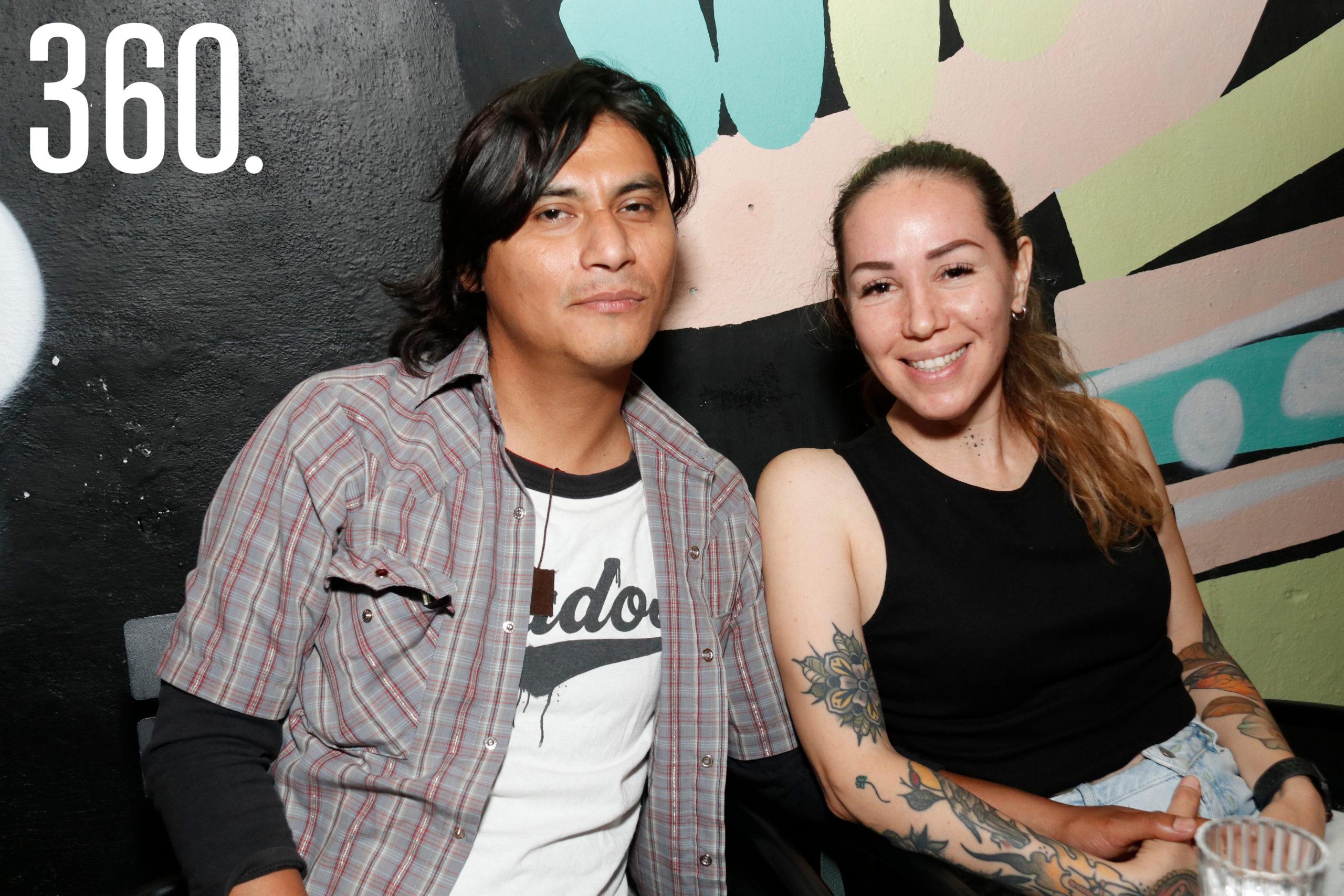 Vinicio Fabila y Azucena Ibarra.