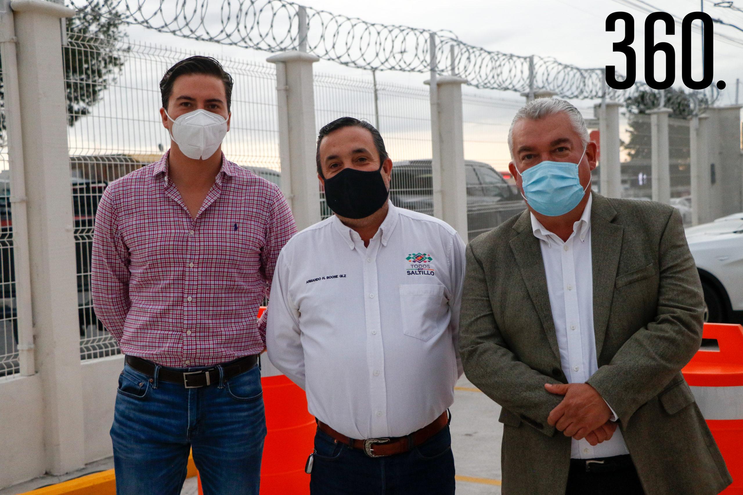 Mauricio Fernández, Armando Boone y Enrique Mier.