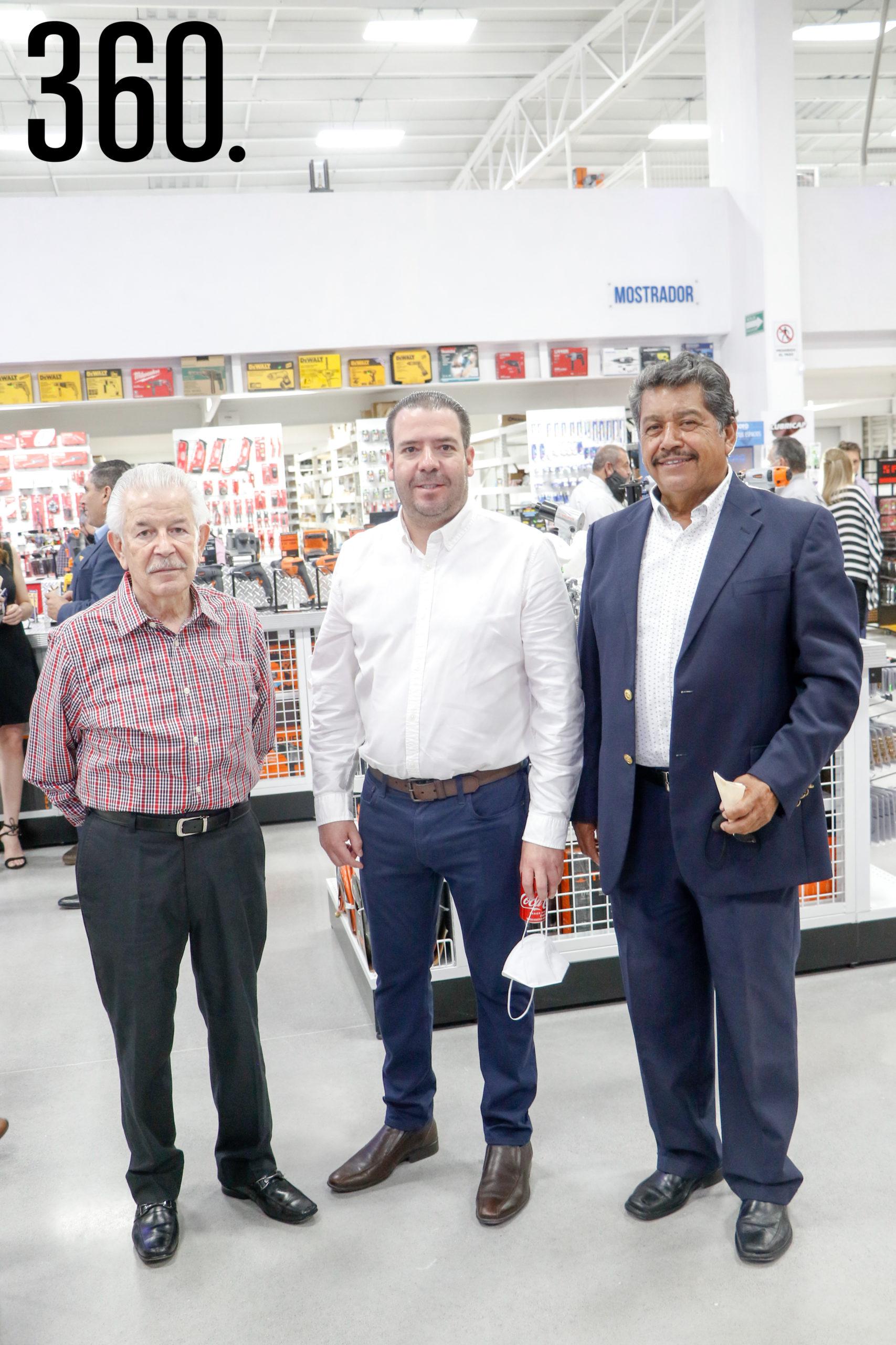 Raúl Armando Güitron, Jorge Güitron y José Luis Pérez.