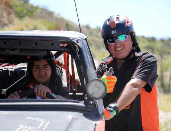 Diego y su papá Marco, amantes de la adrenalina.