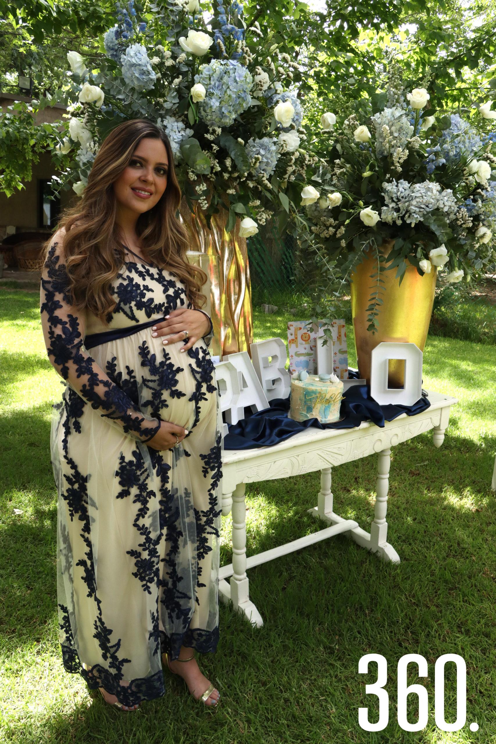 Gabriela Gómez de Peart espera el nacimiento de su primogénito para mediados agosto.