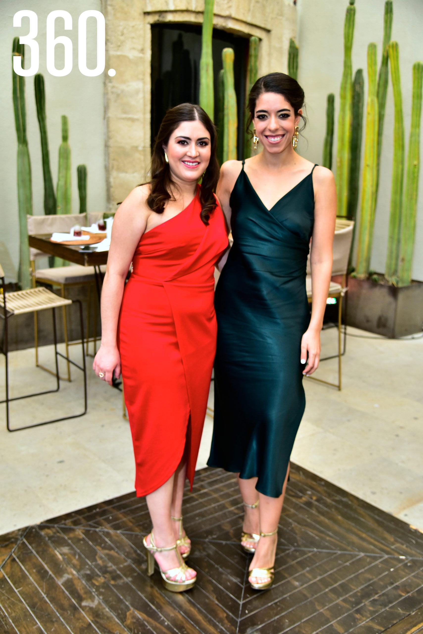 Sara Flores y Andrea Cardona.