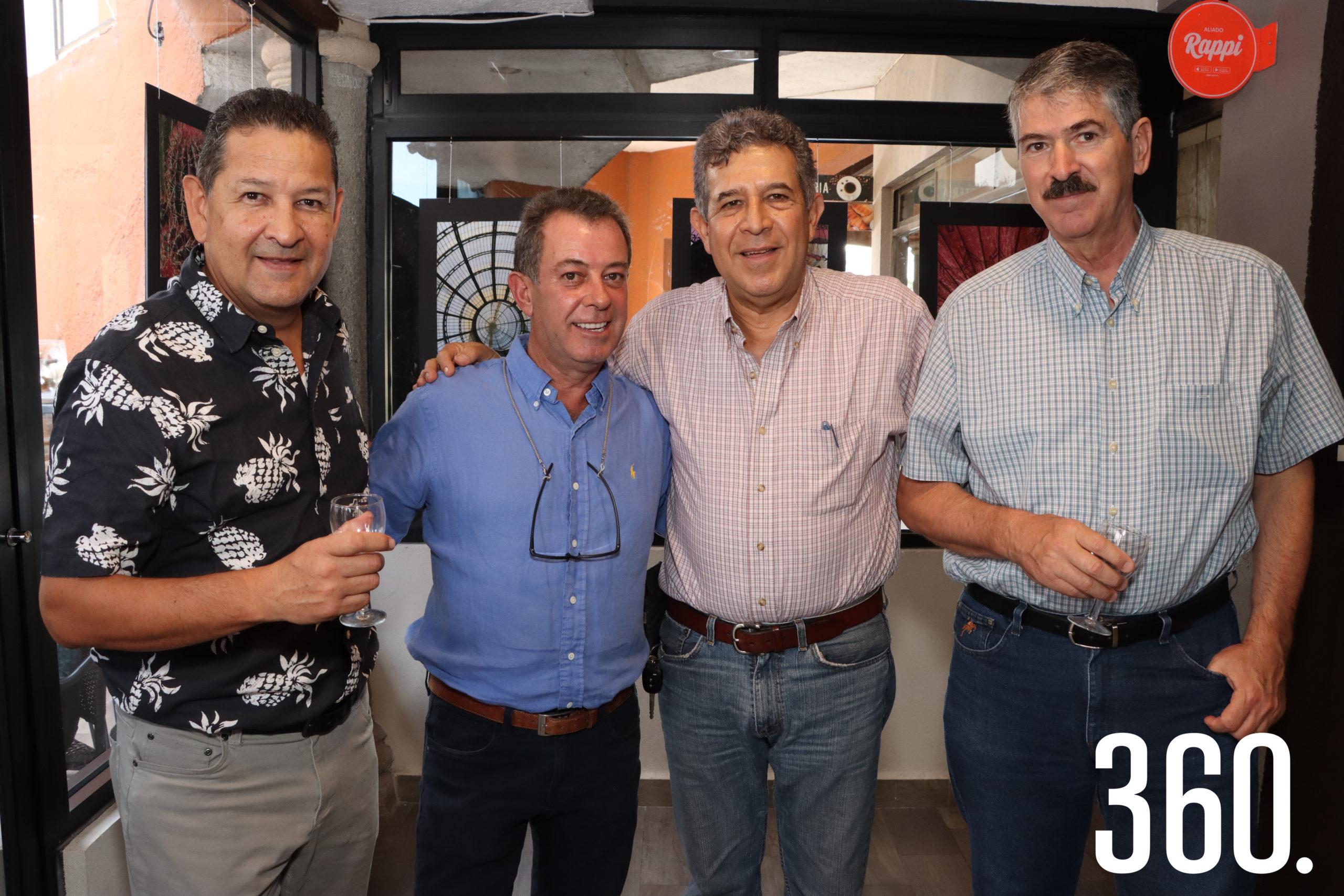 Ignacio Martínez, José Antonio Marquina, Enrique Garza y Rolando Peña.