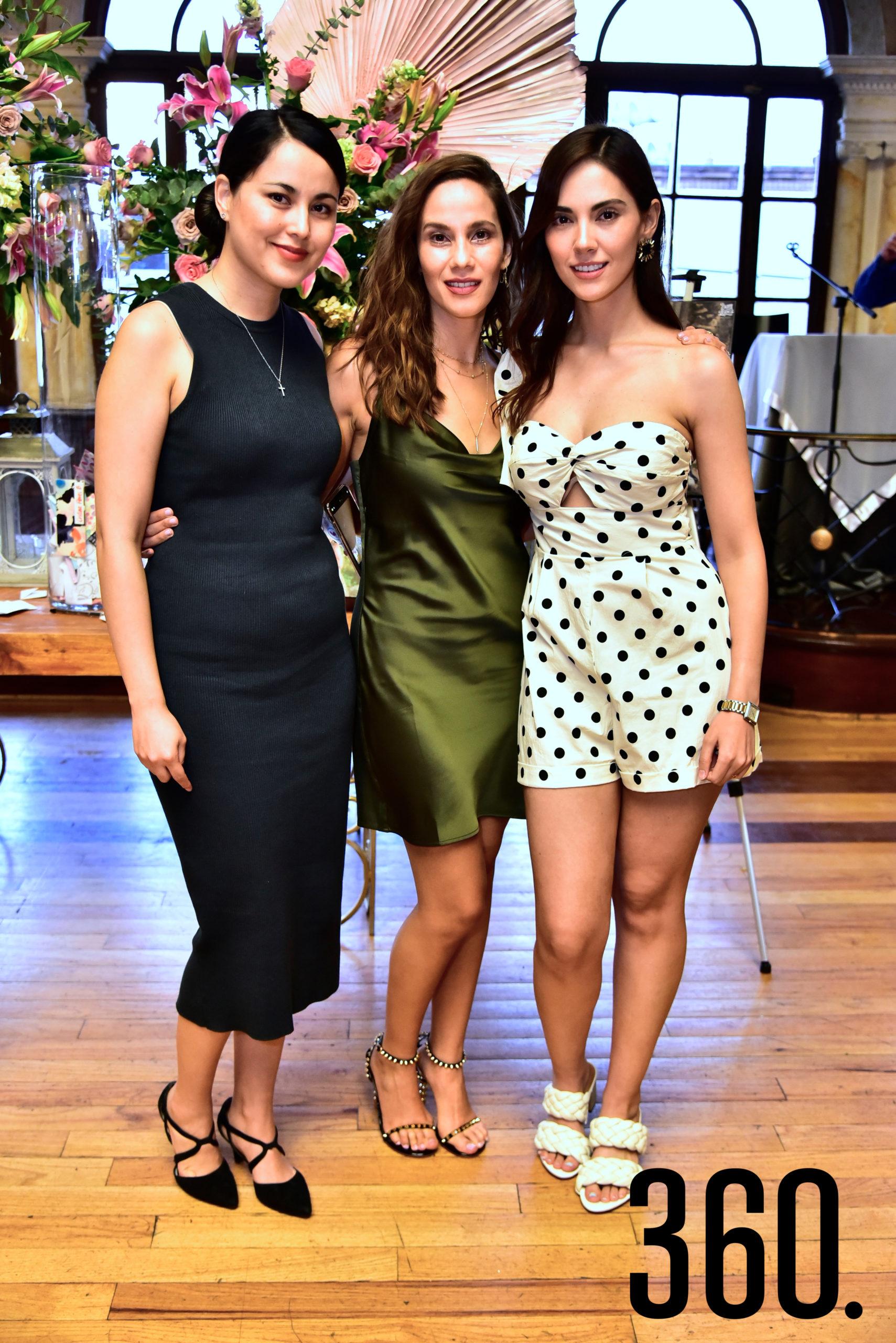 Susana, Gaby Dávila y María Alejandra Flores.