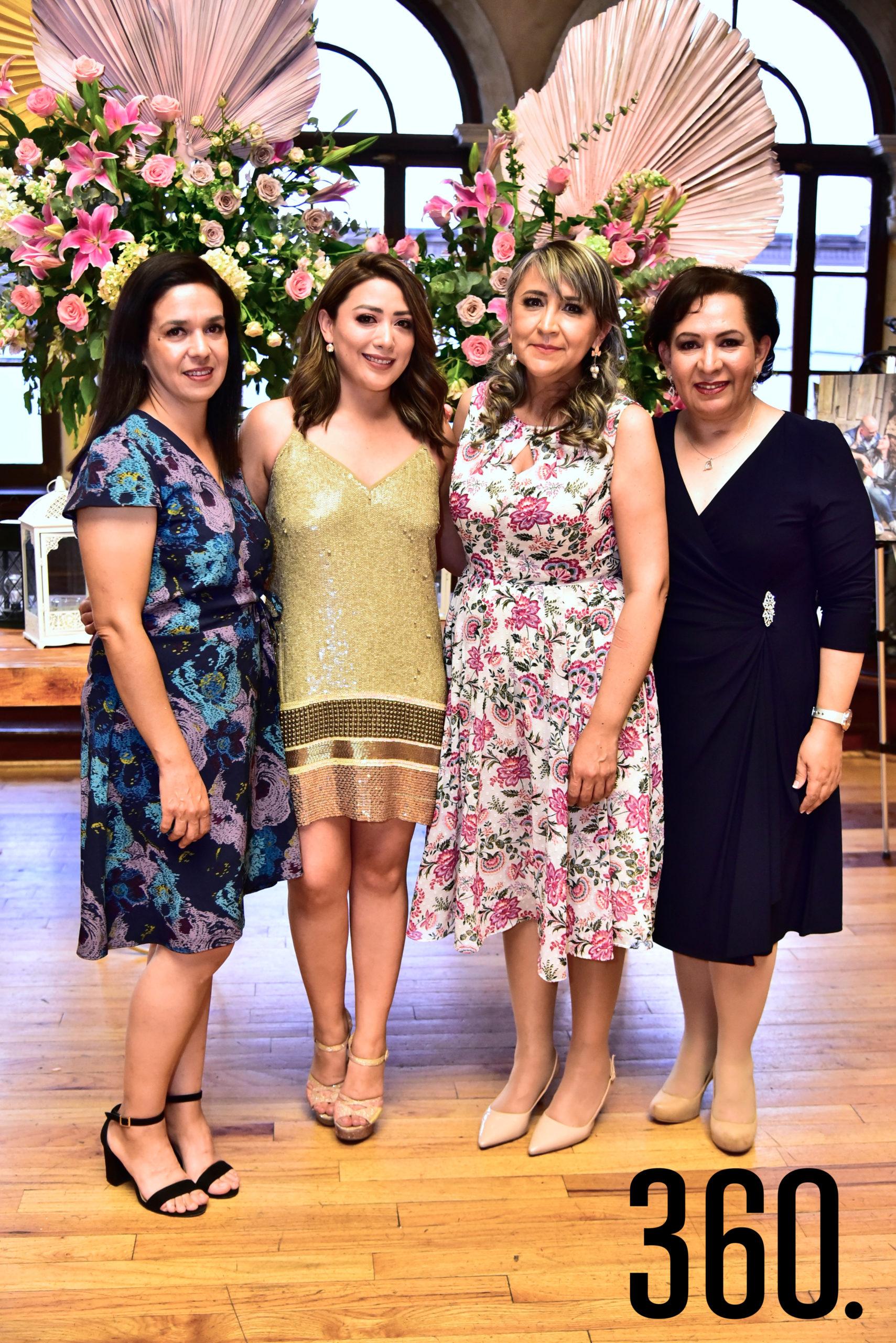 Gabriela Gutiérrez, Diana Mendoza, Adriana Ortiz y Lilia Gutiérrez.
