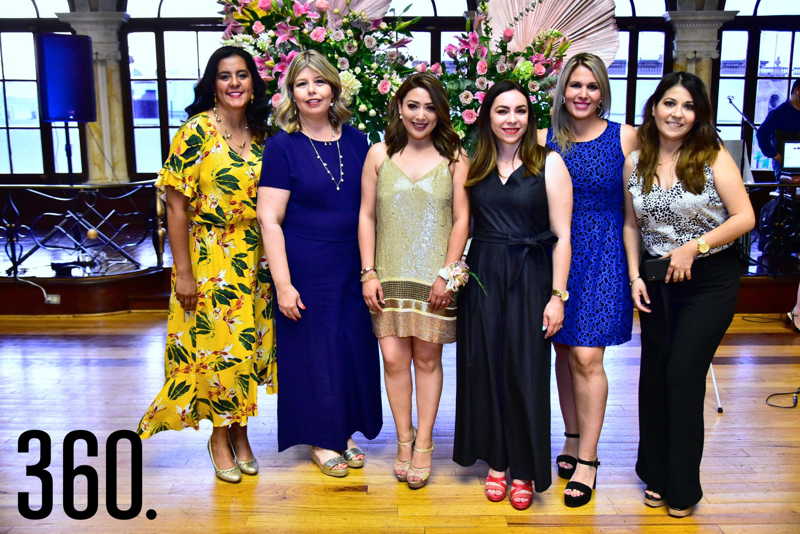 Mili Ramos, Gina Farías, Diana Mendoza, Paty Villarreal, Aidé Aguirre y Erika Reyes.