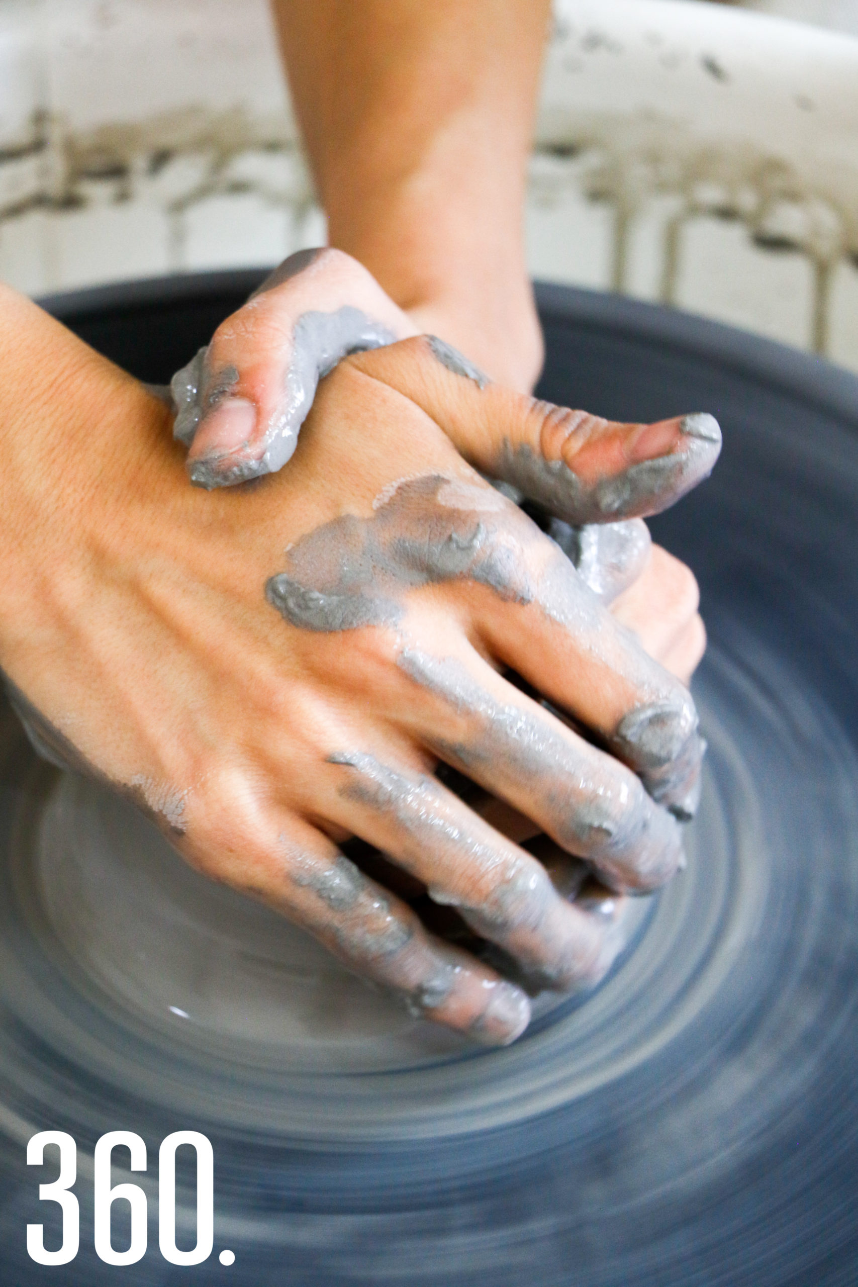 Trabajando la cerámica.