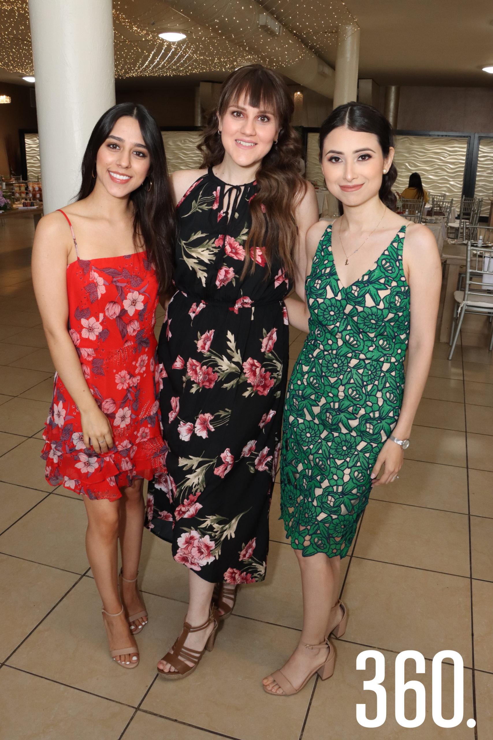 Andrea Belloc, Norma Morales y Laura Flores.