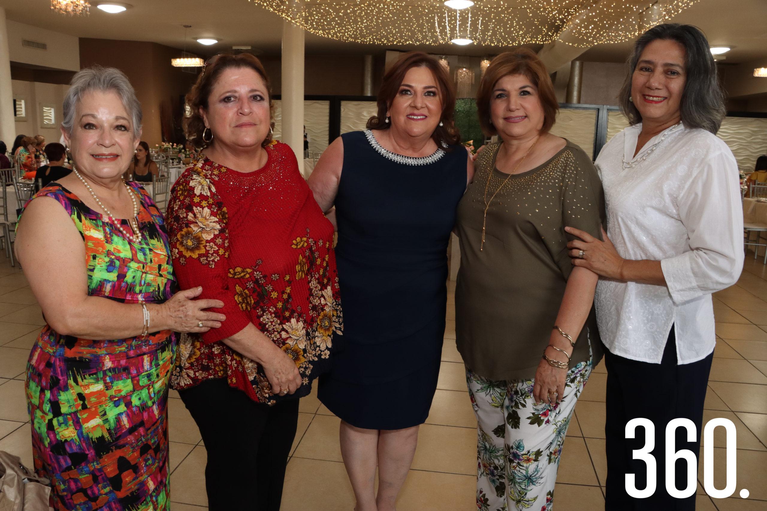 Blanca de Arellano, María Eugenia Martínez, Gloria Aguirre, Lilia Ábrego y Patricia Leos.
