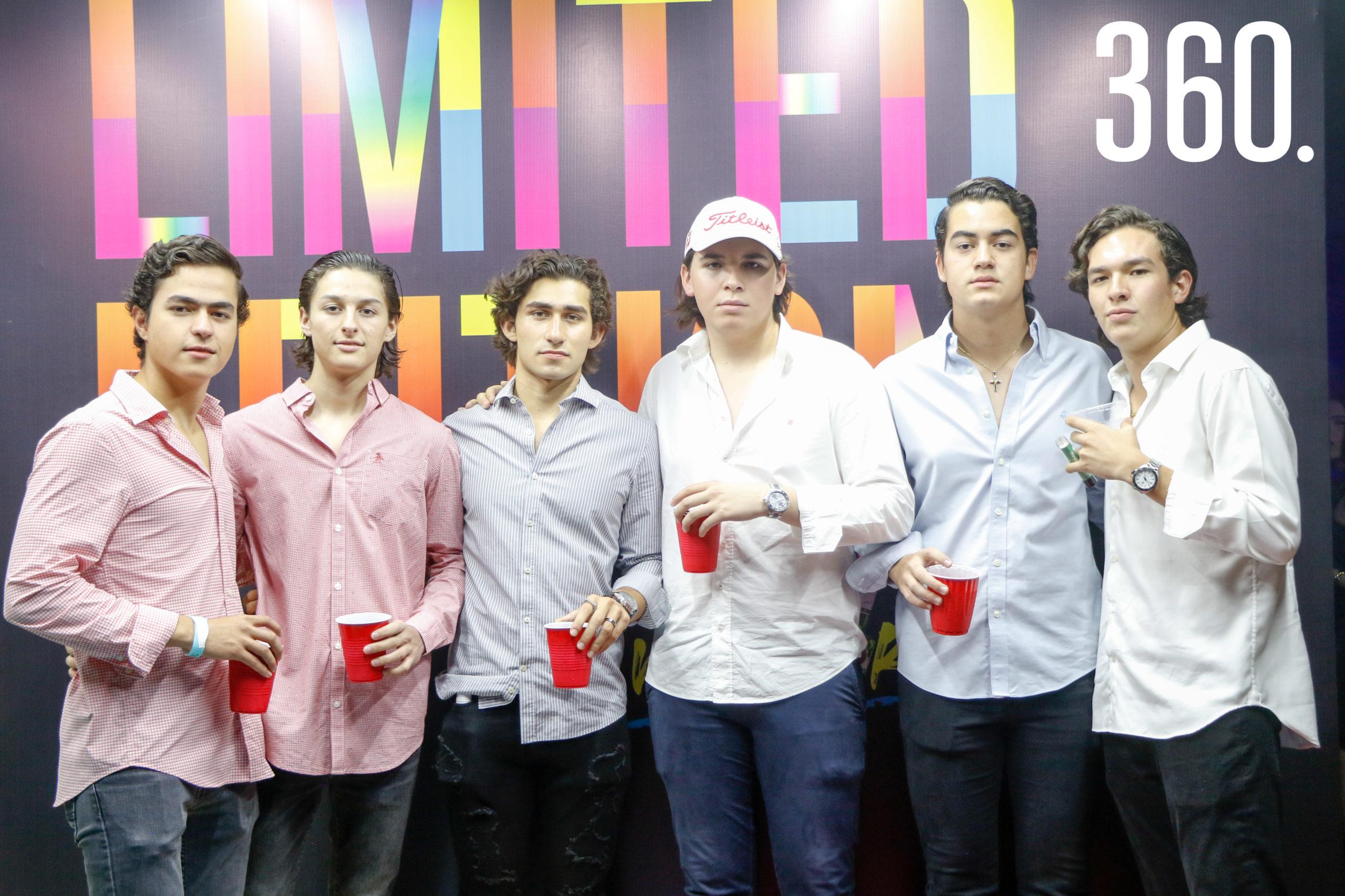 Arturo del Bosque, Alejandro Torres, Rubén Escudero, David Lara, Marcelo Carranza y José Ramón Oceguera.