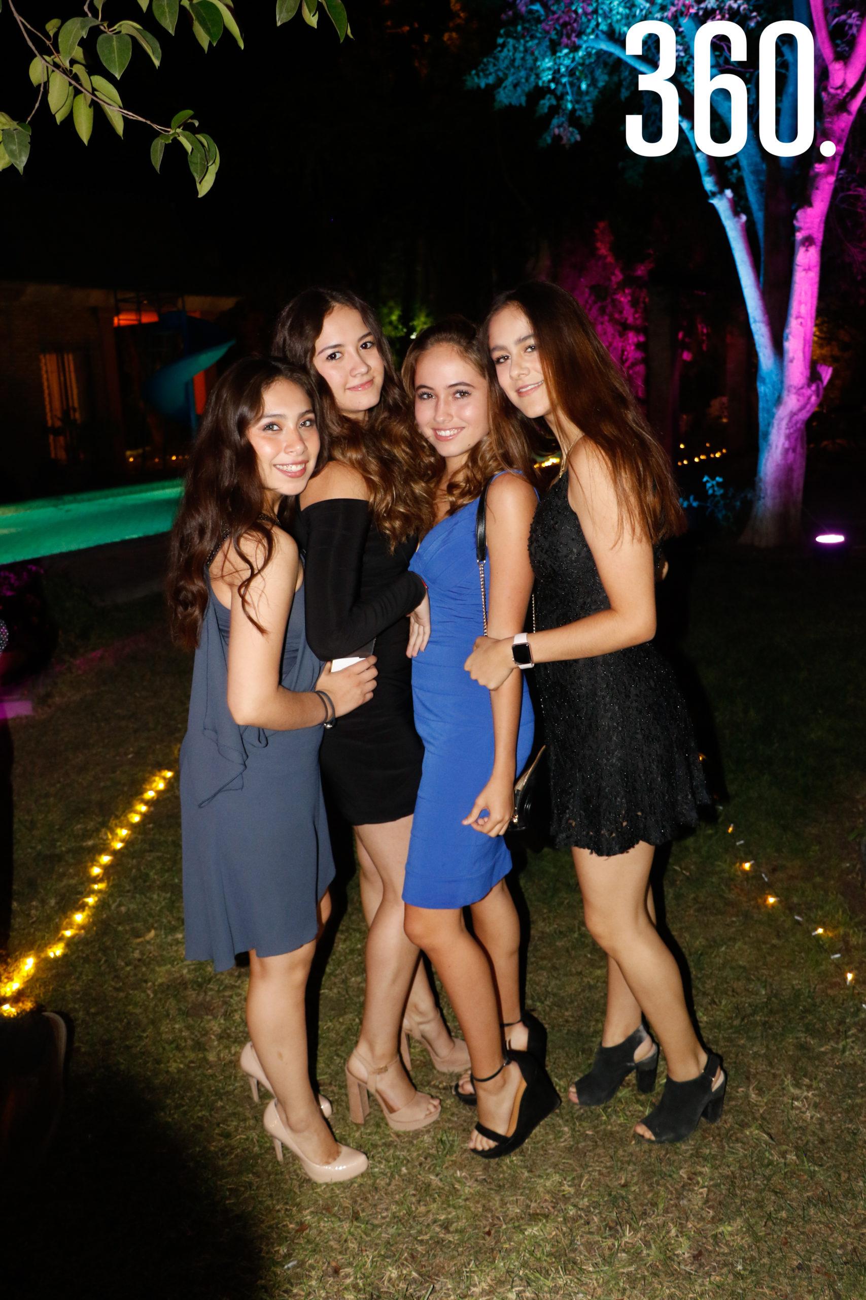Sofía González, Celina Rodríguez, Paulina Castellanos y Rafaella Ortiz.