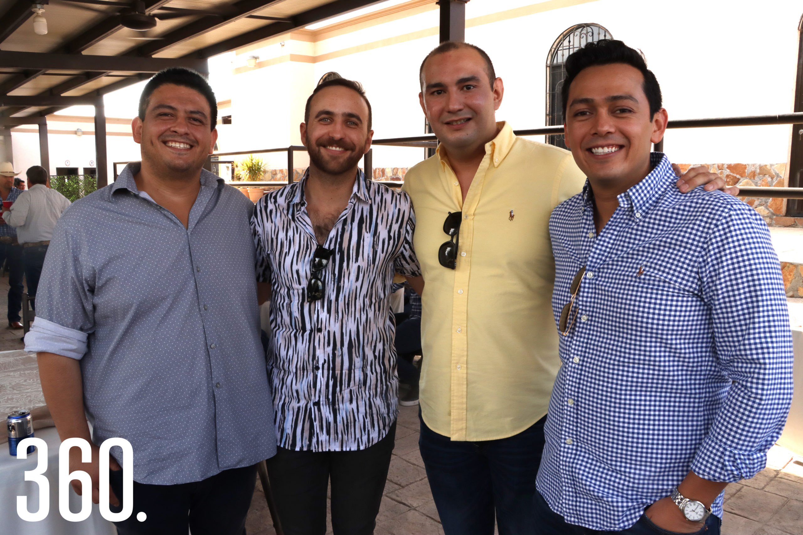 Daniel Chávez, Memo Dávila, Joel Cárdenas y Diego Chávez.