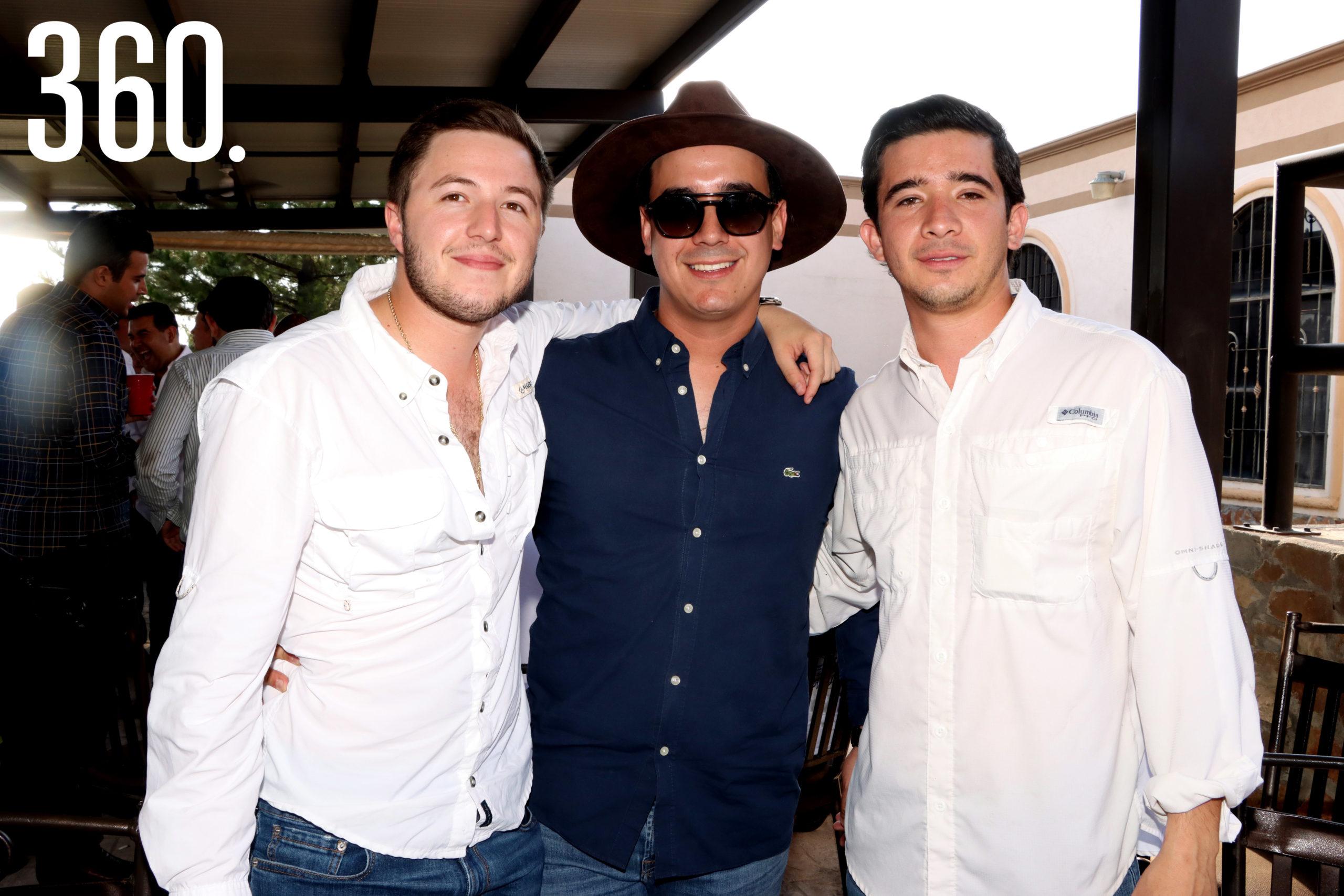 Ricardo Villarreal, Sebastián Montiel y Rodolfo Figueroa.