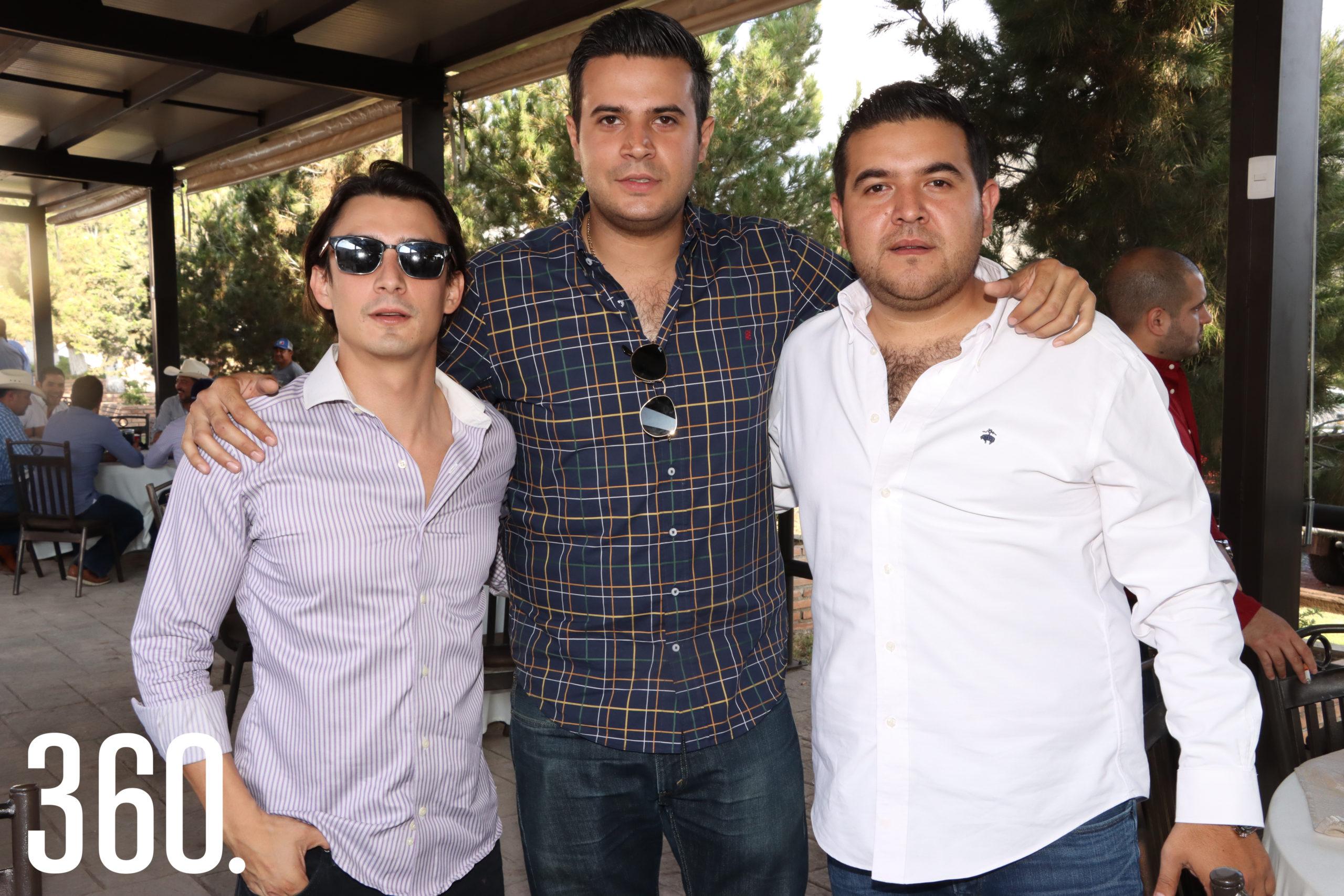Francisco Garza, Miguel Delgado y José Martínez.