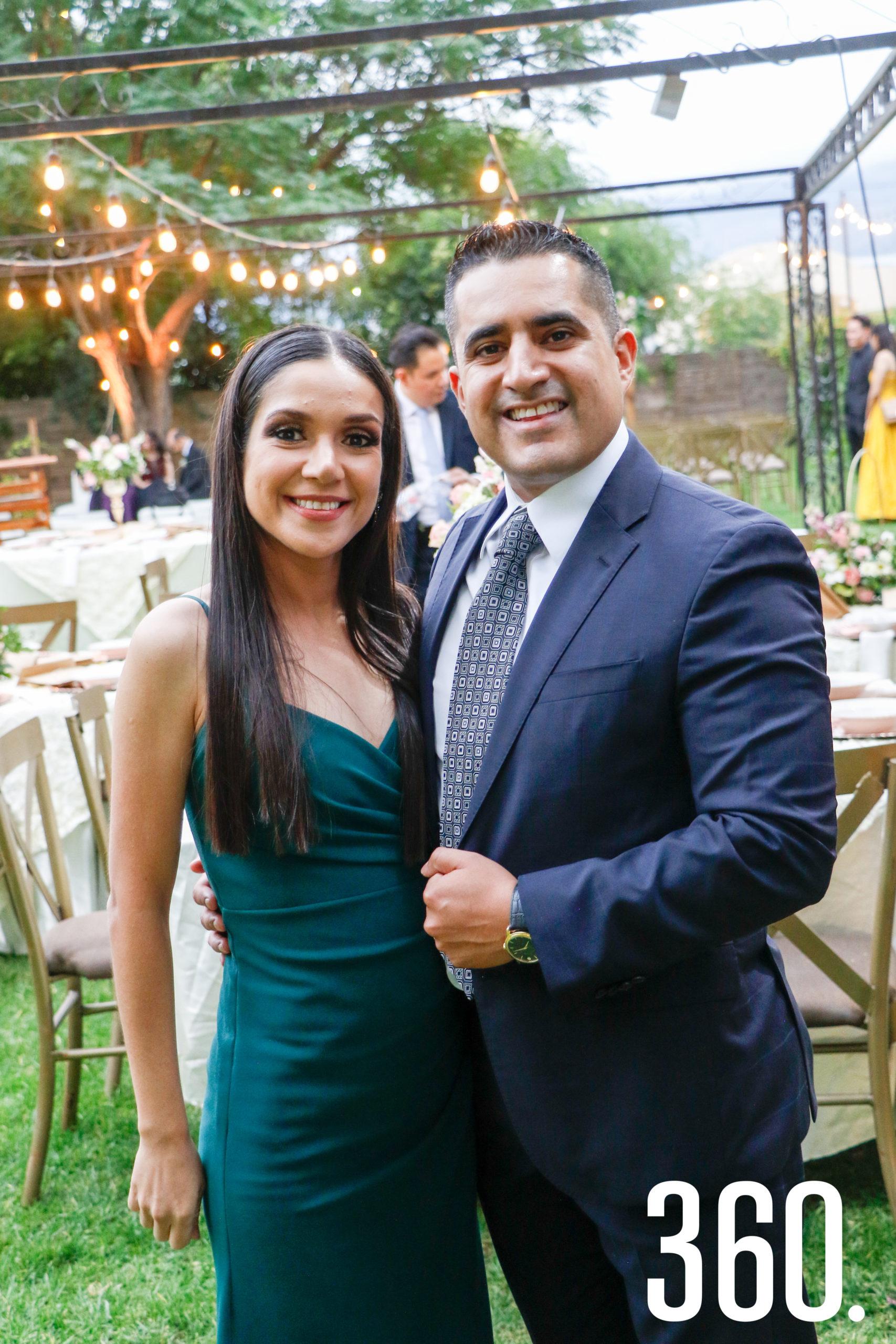 Cecilia Aguirre y Orlando Frausto.