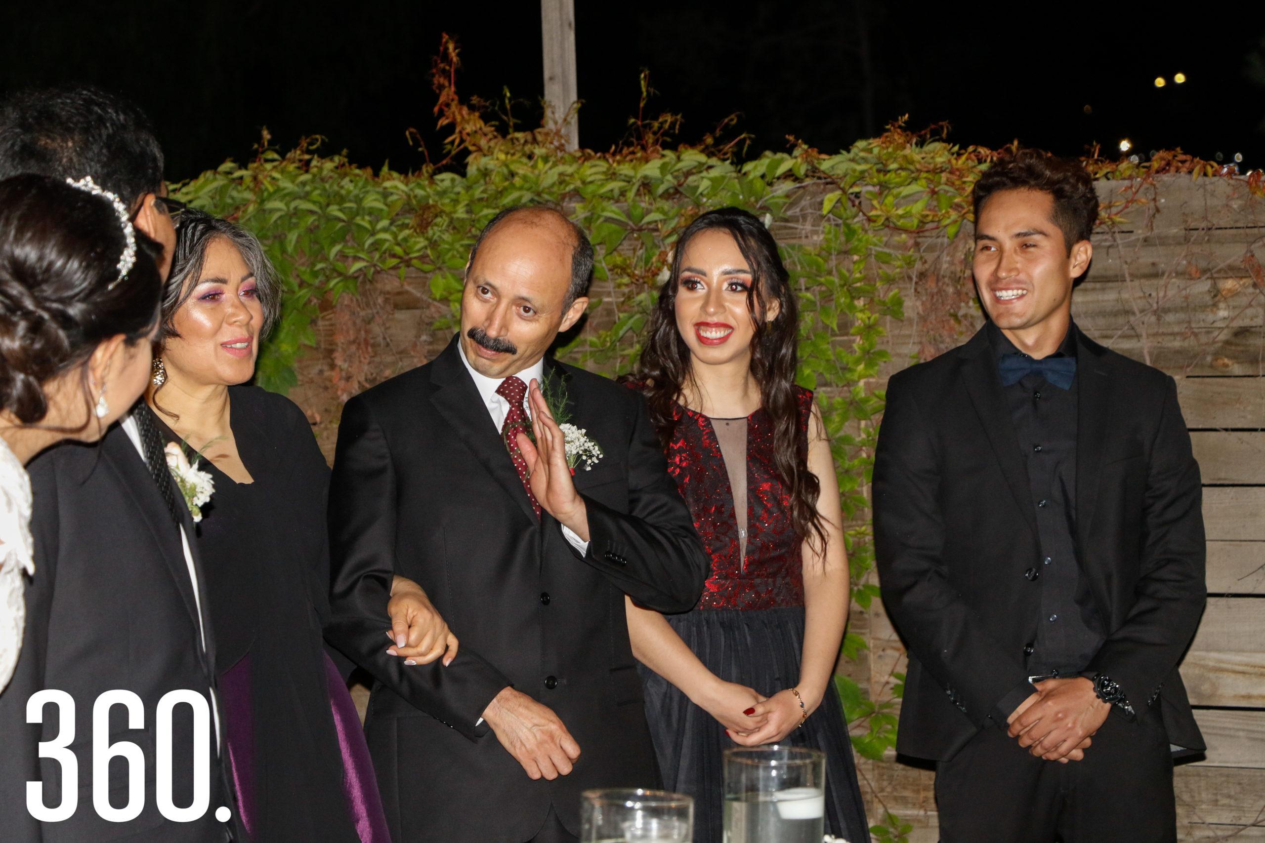 Alma Patricia Díaz, Juan Rodríguez, Diana Rodríguez y Antonio de Jesús Loera.