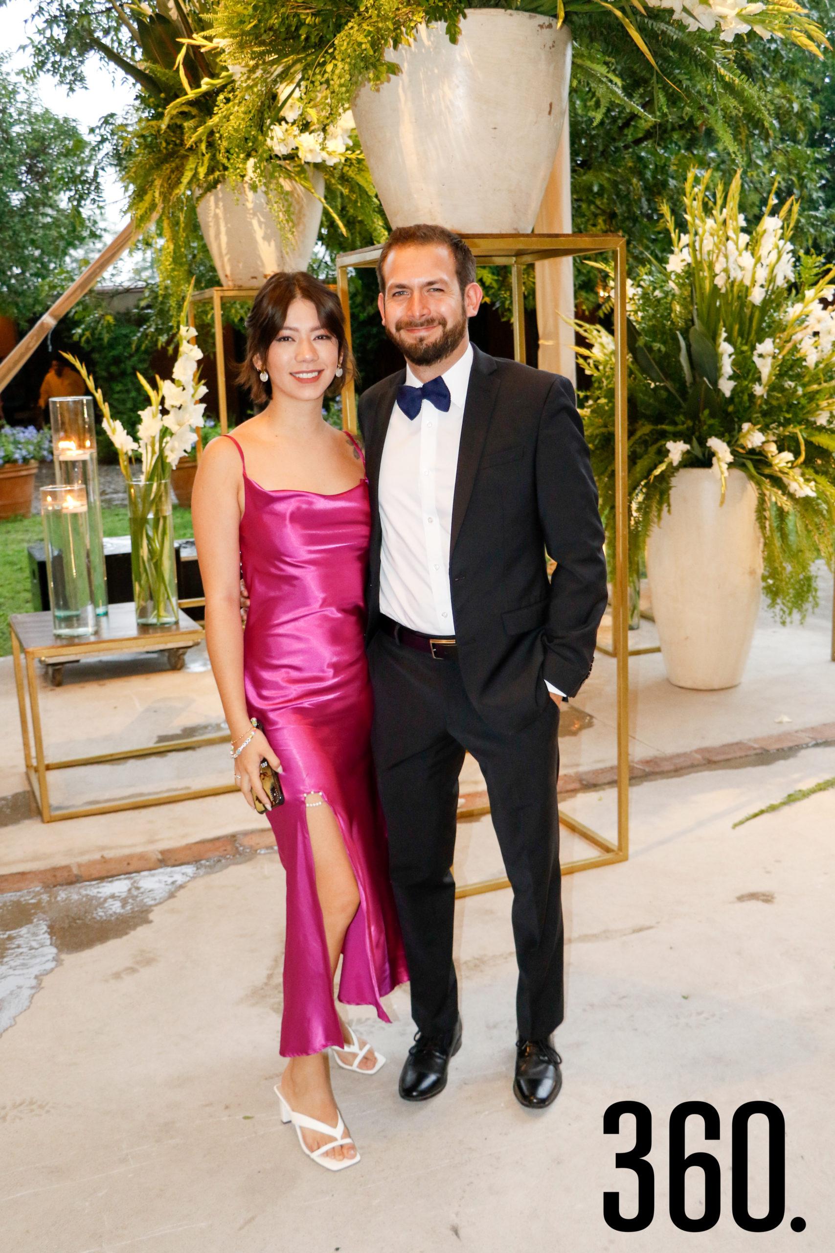 Lucía Farías y Eduardo Flores.
