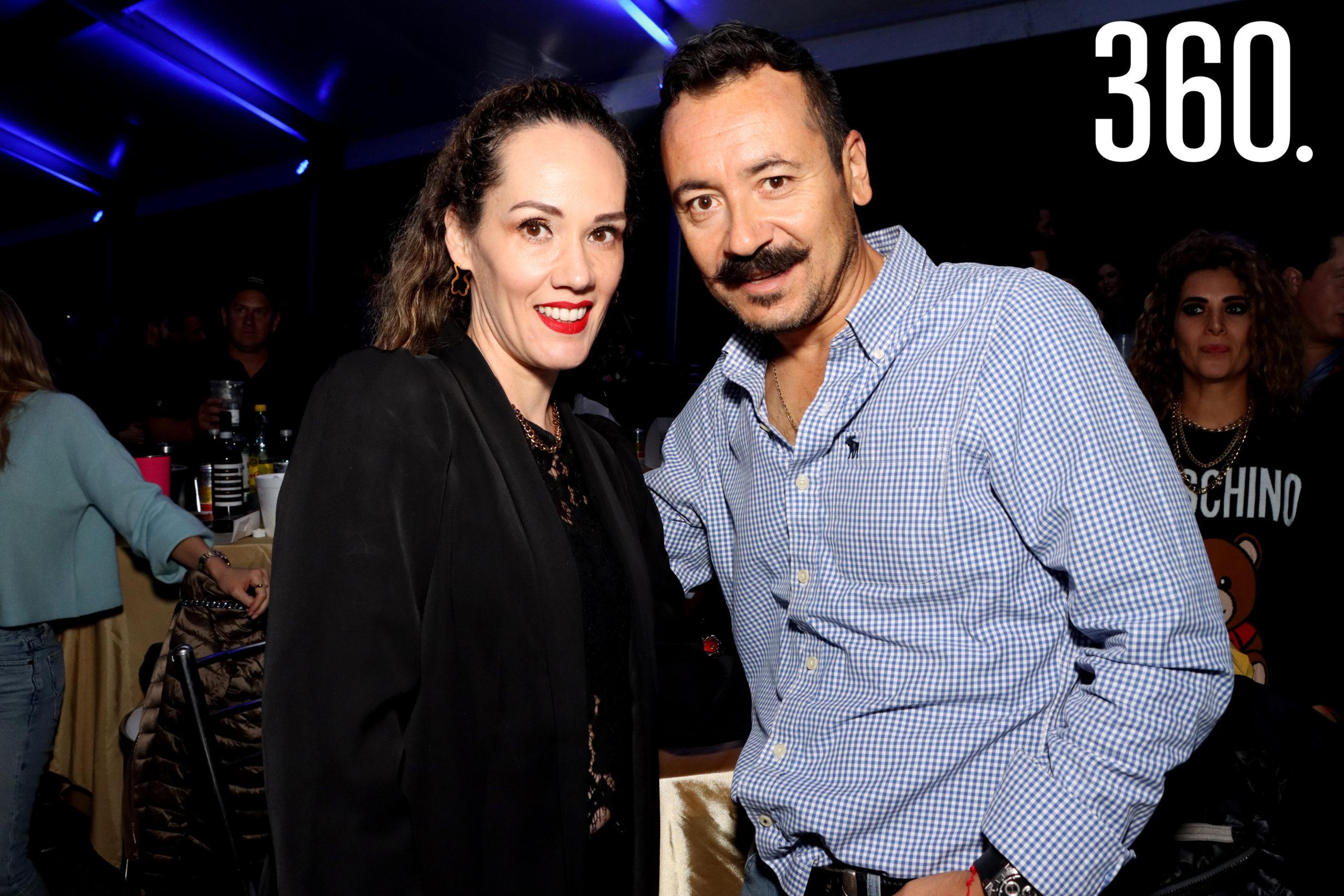 Paola Haro y Carlos Delgado.