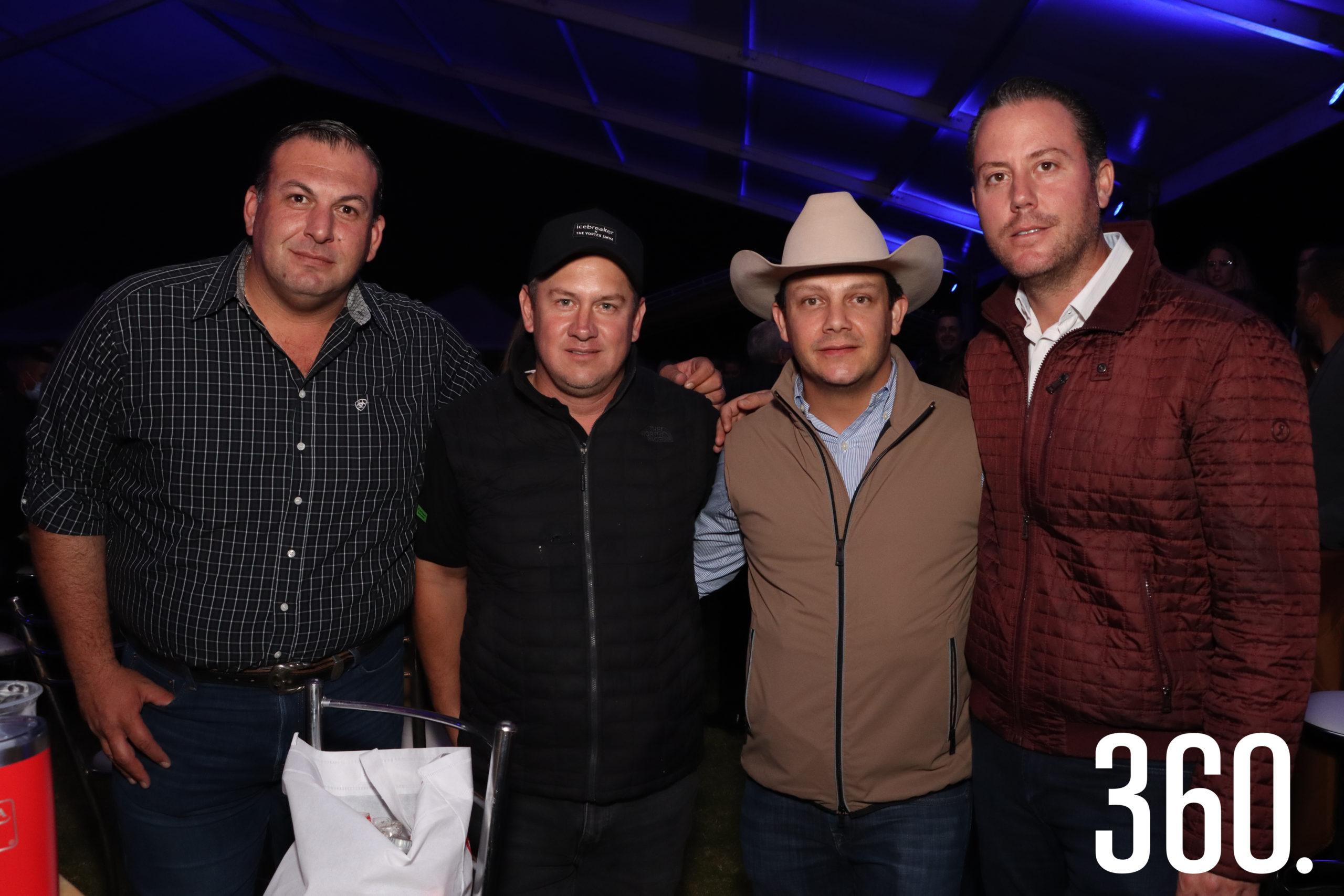 Jorge Dainitin, Mario Morales, Joaquin Arizpe y Salvador Jospe.