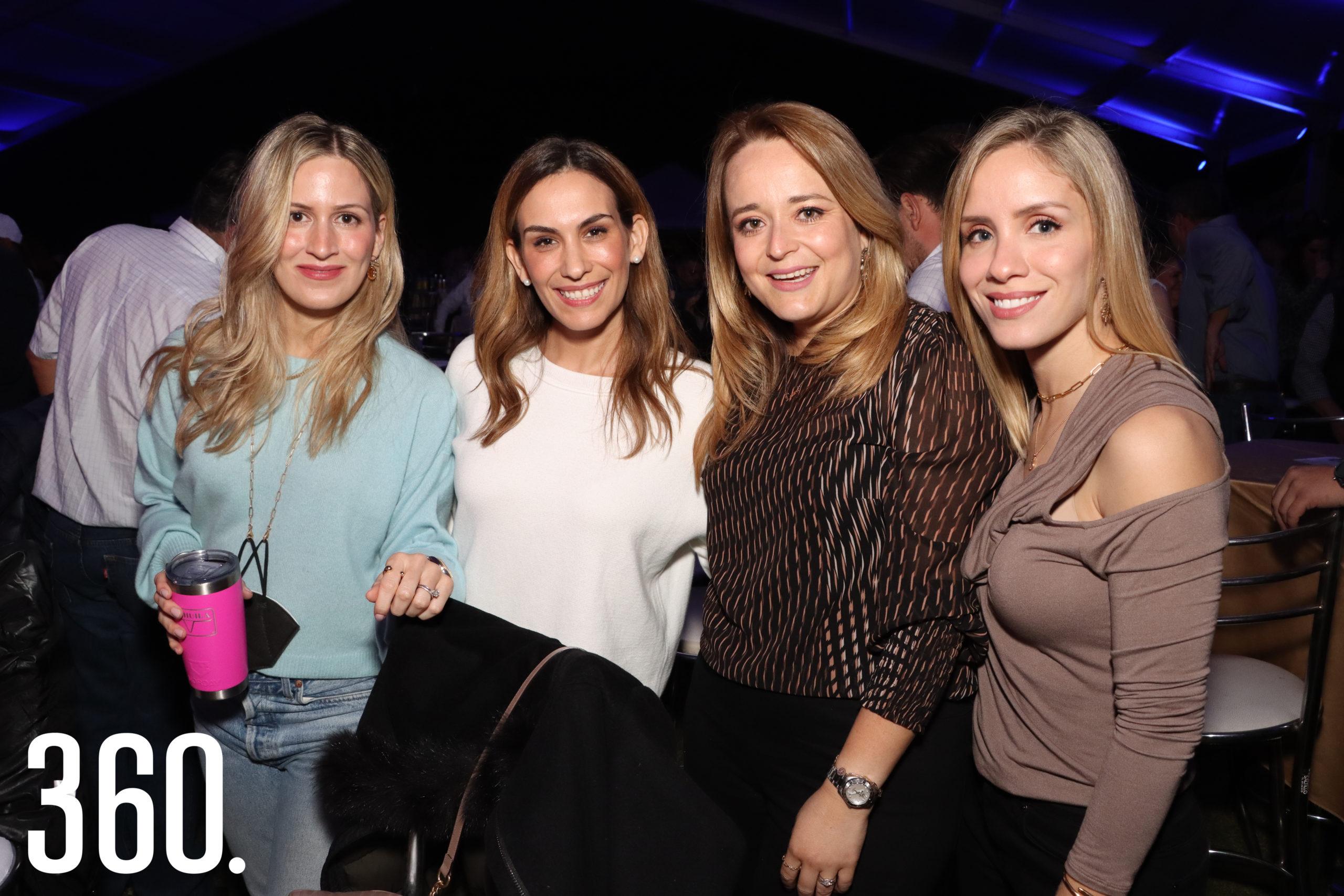 Cristina Burns, Gaby Castañeda, Laura Guzmán y Estela Cantú.