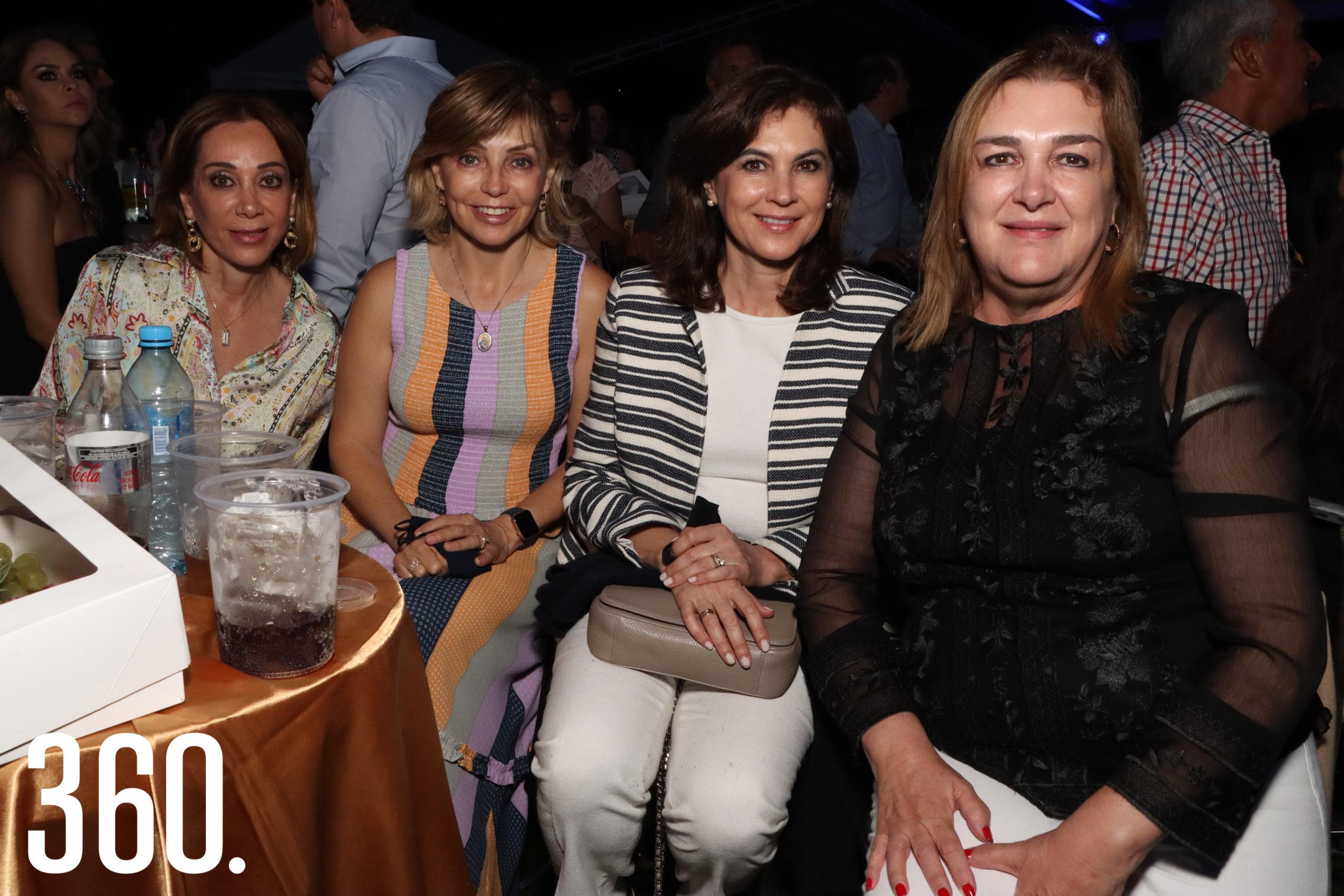 Terecata del Bosque, Conchita Aguirre, Marú Garza y Raquel Torres.