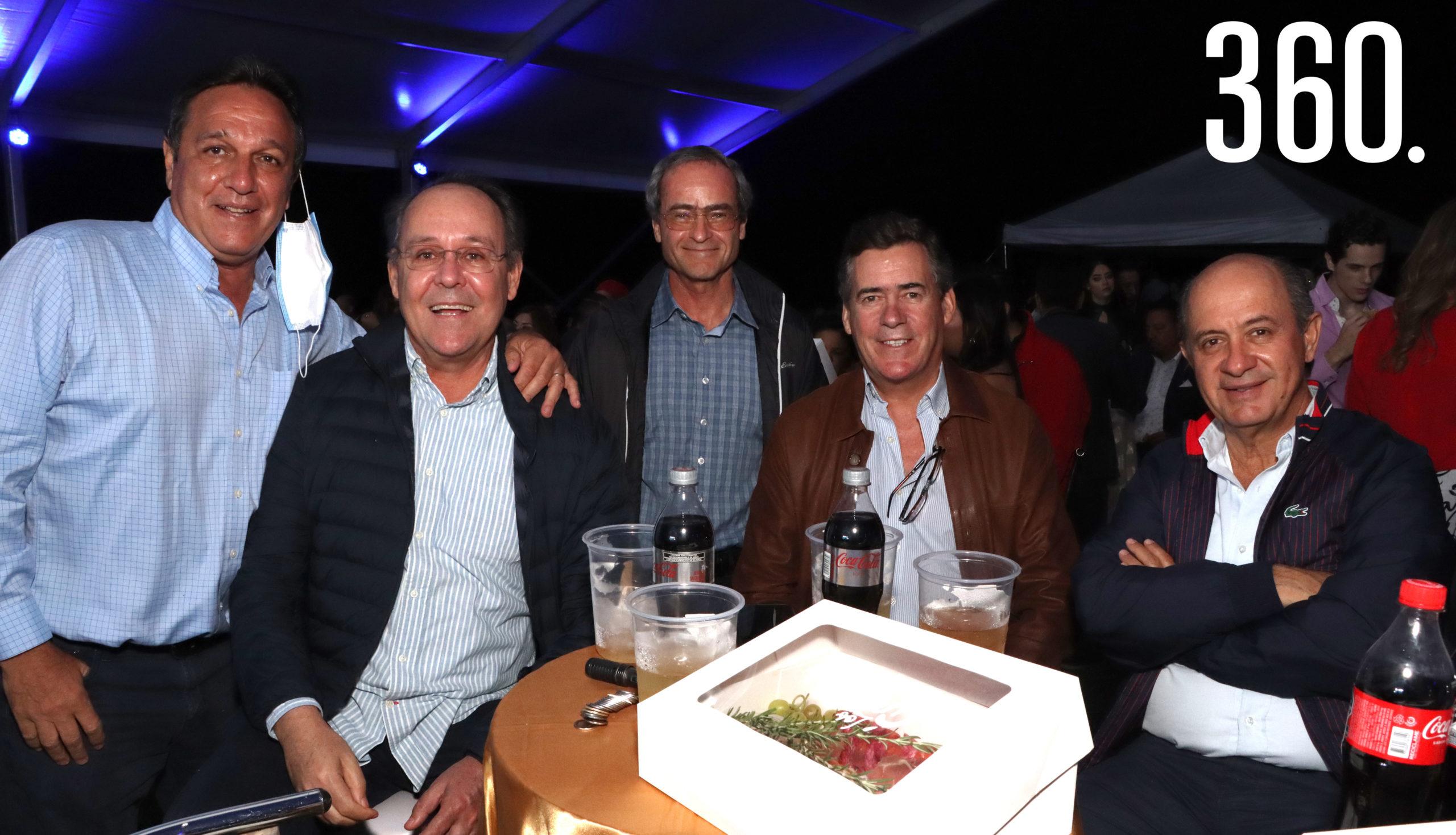 Juan Antonio Rodríguez, Arturo López, Luis Arizpe y Ernesto López.