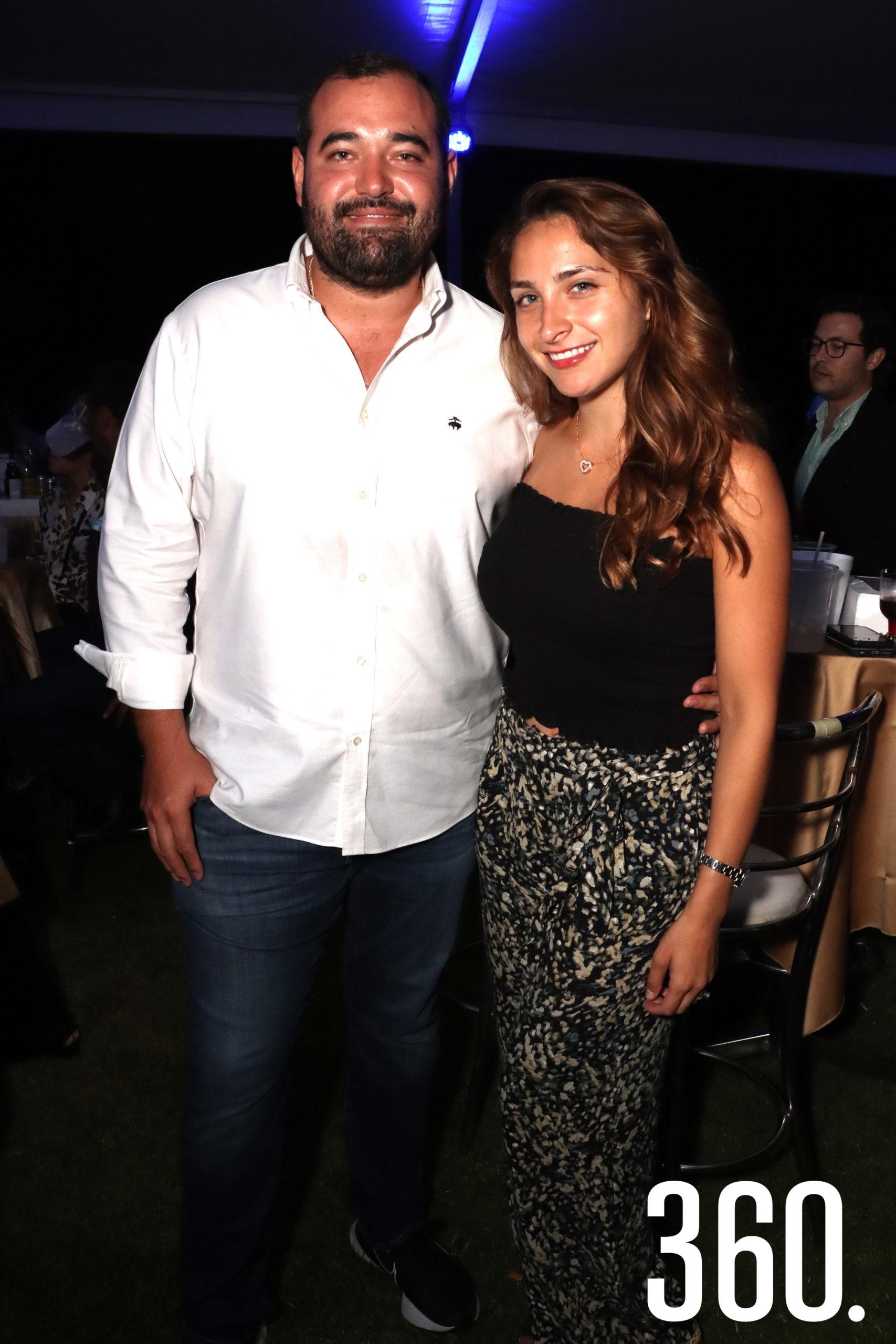 Melchor Sánchez y Pily Cadena.