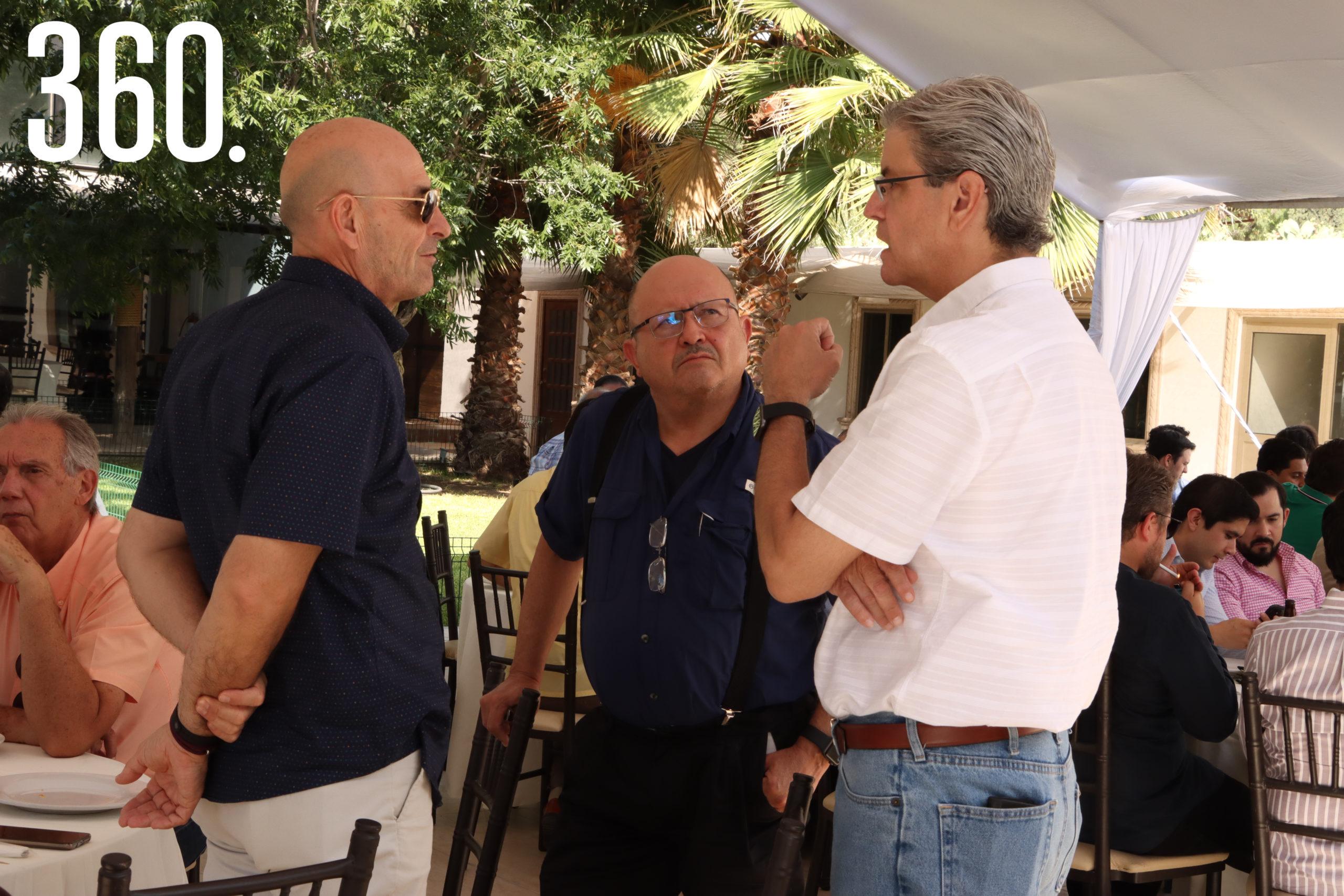 Fernando Guerra, Pedro Méndez y Carlos Martínez.