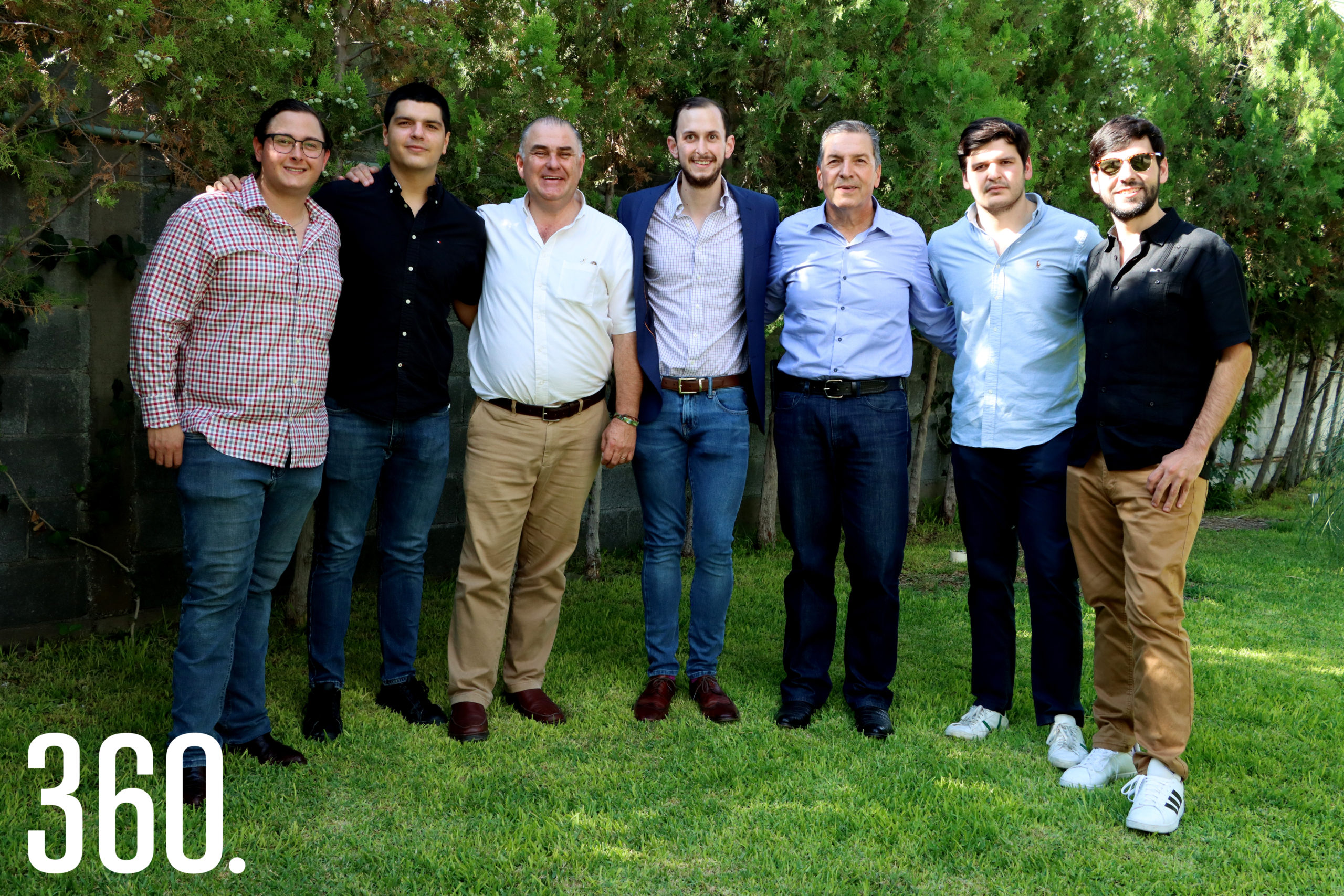 Juan Pablo Dávila, Rogelio Treviño, José Luis Dávila, José Luis Dávila, Rubén, Rodrigo y Rubén Treviño.