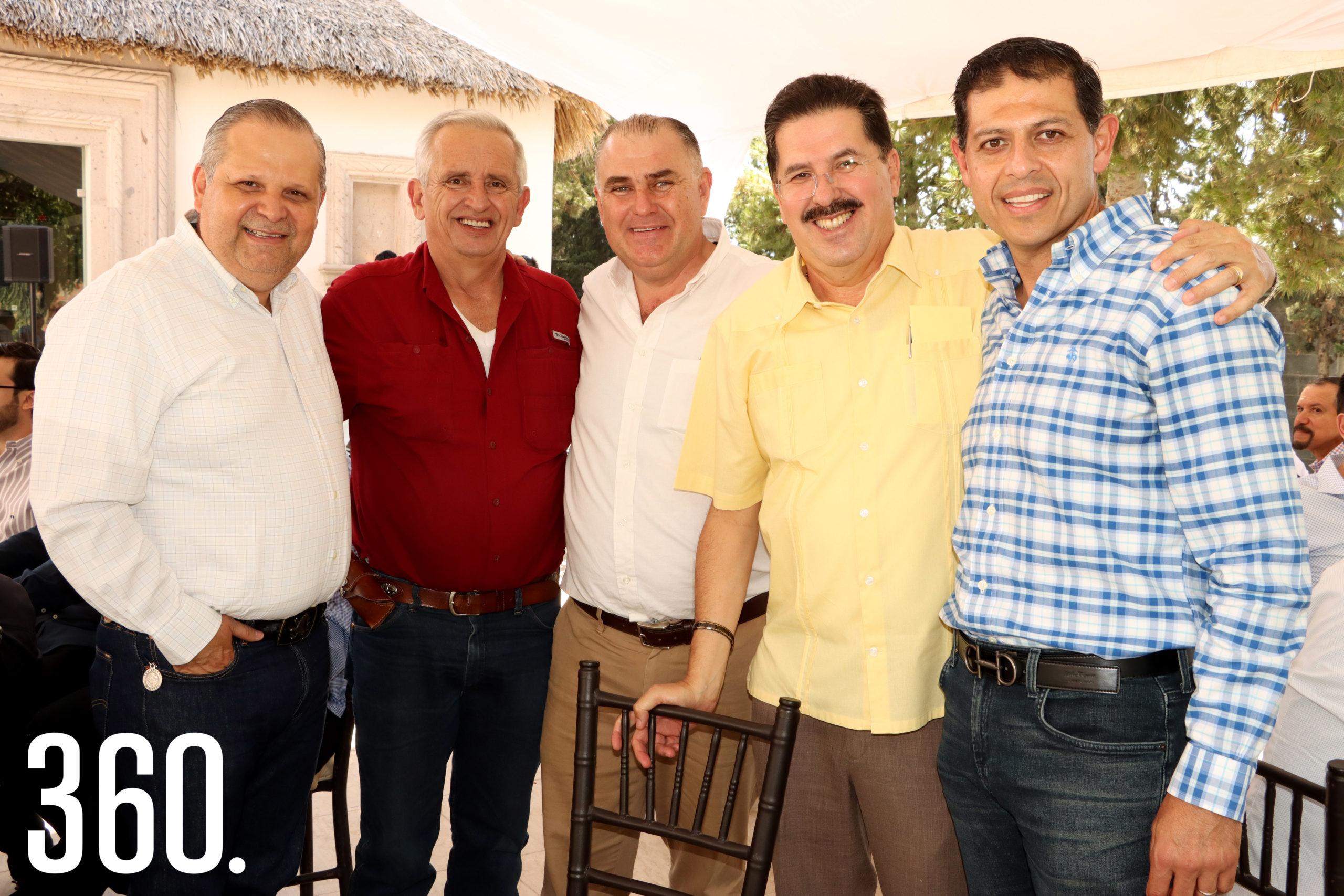 Armando Carbajal, Armando Elizondo, José Luis Dávila, Luis Arturo González y Octavio Pimentel.