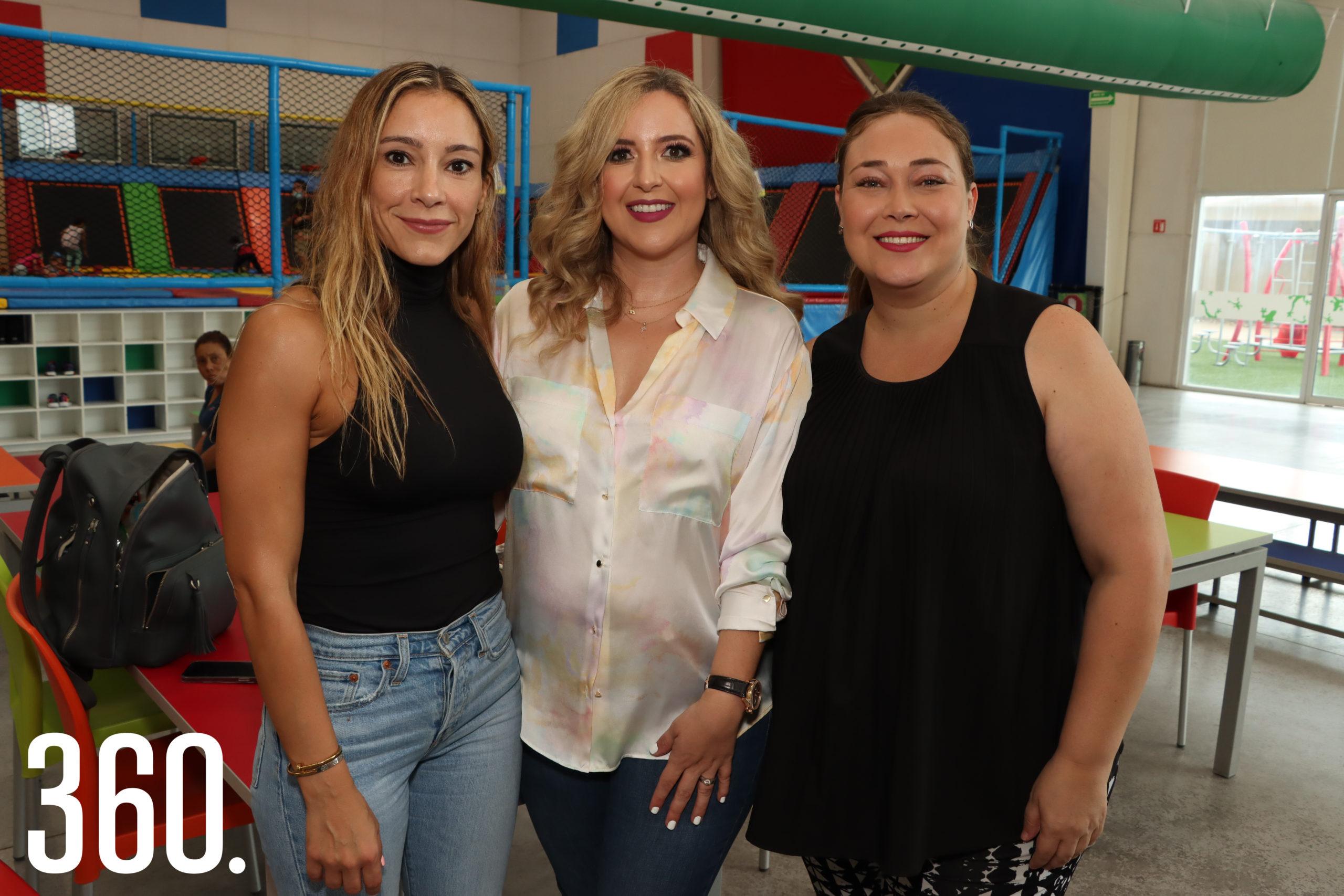 Melissa Rodríguez, Romy Valdés y Roxana Rivera.