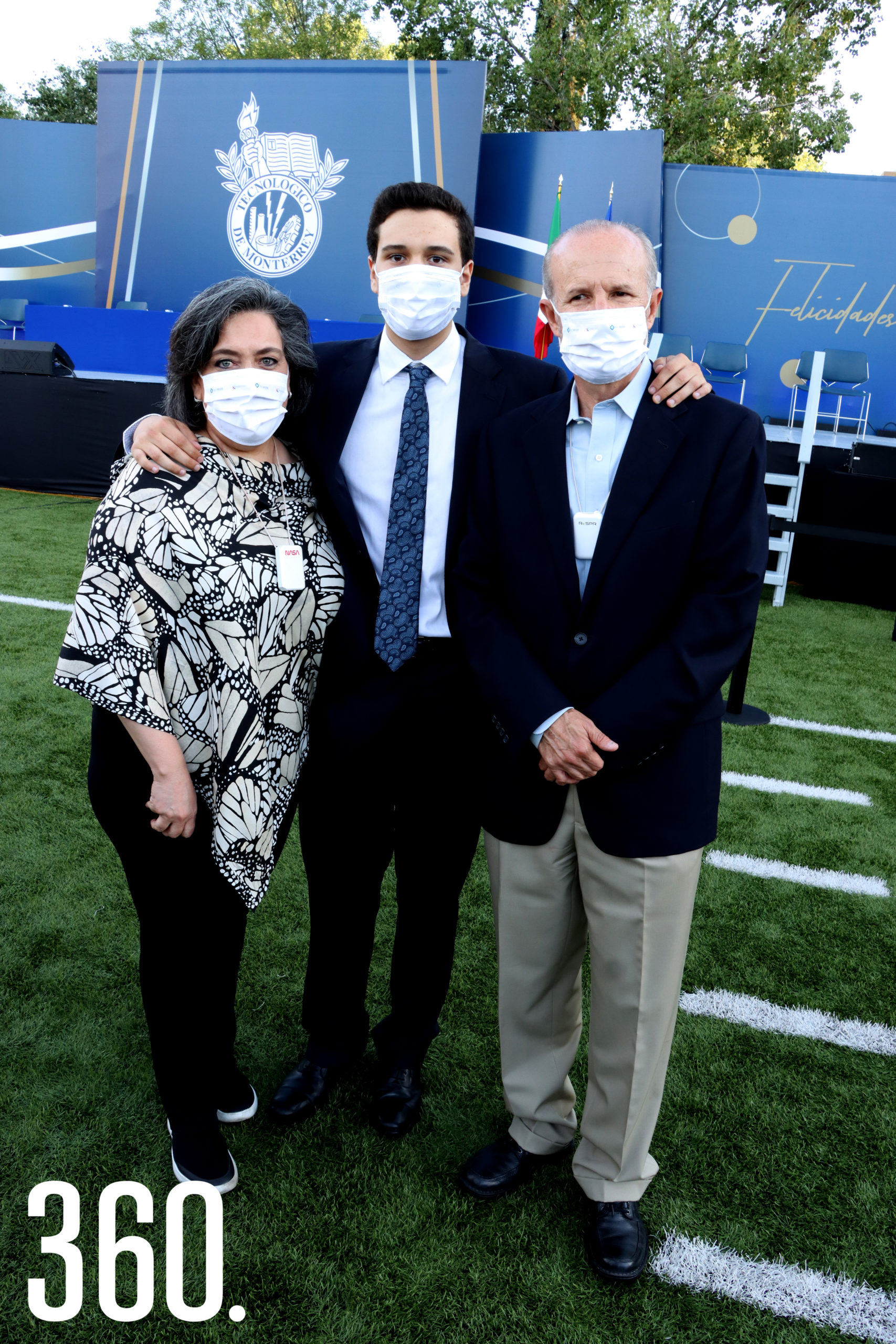 Diana Castilla, David y Gerardo Garza.