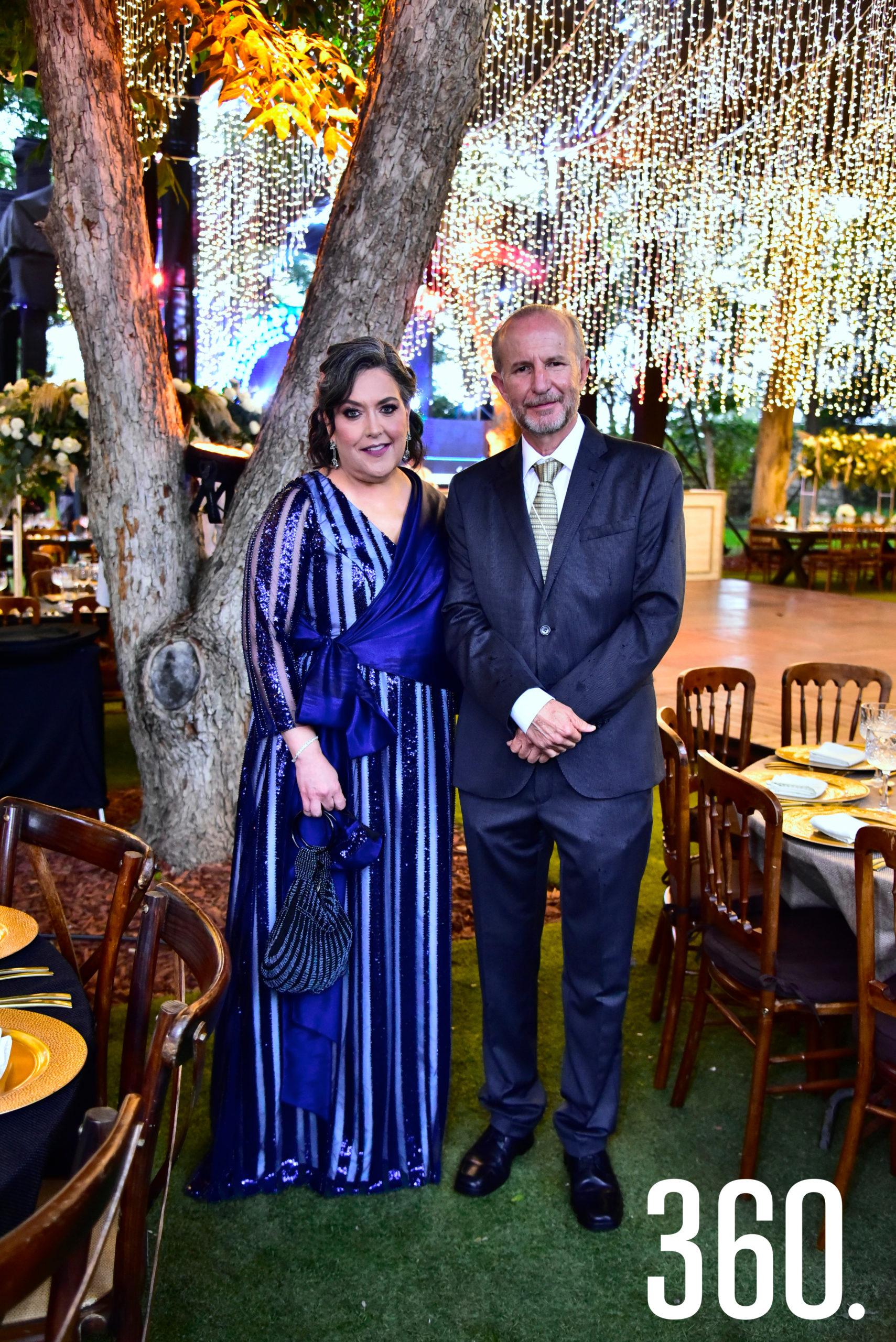 Diana Castilla y Gerardo Garza.