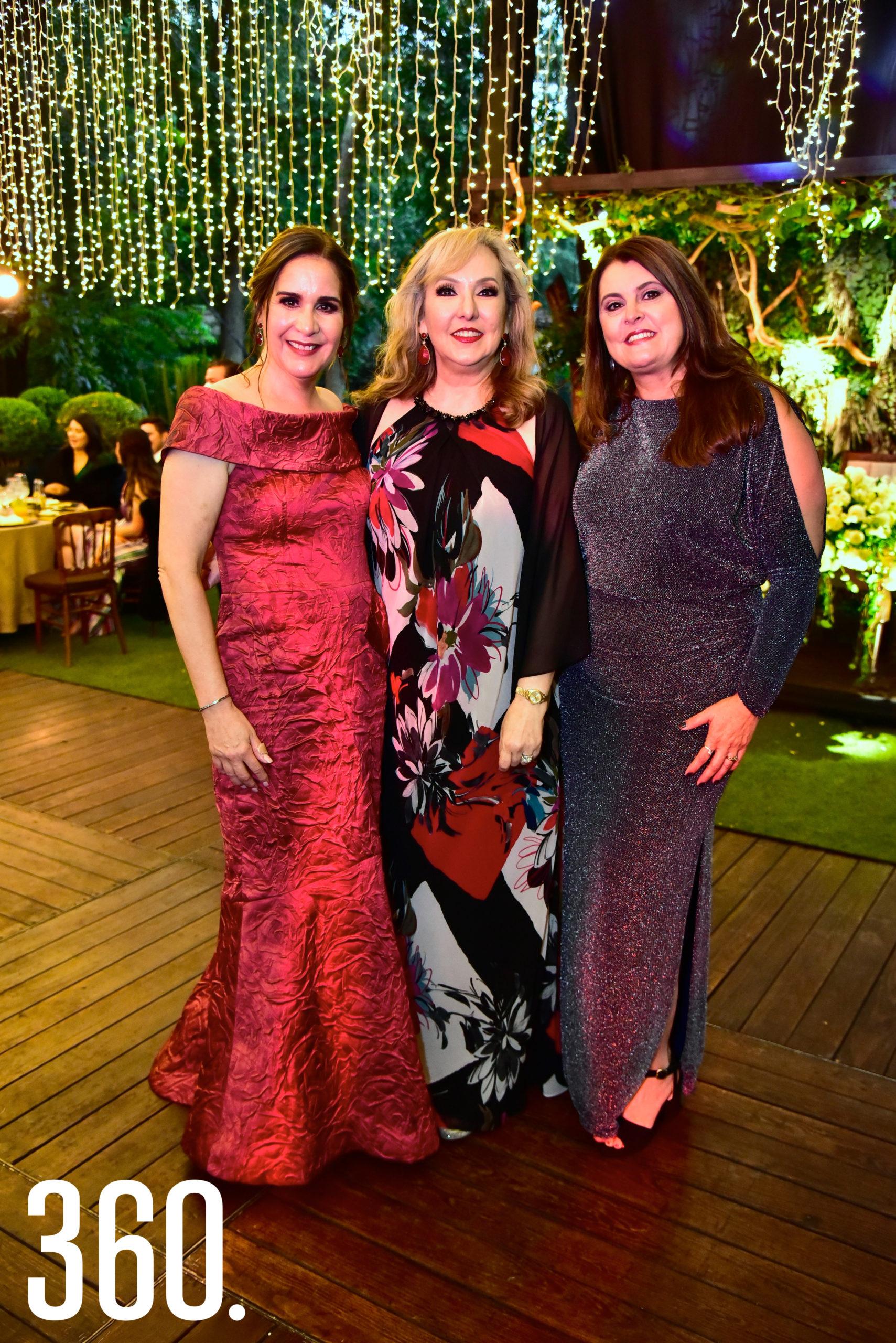 Alma Leticia Gómez, Miriam Cárdenas y Magdalena Fuentes.