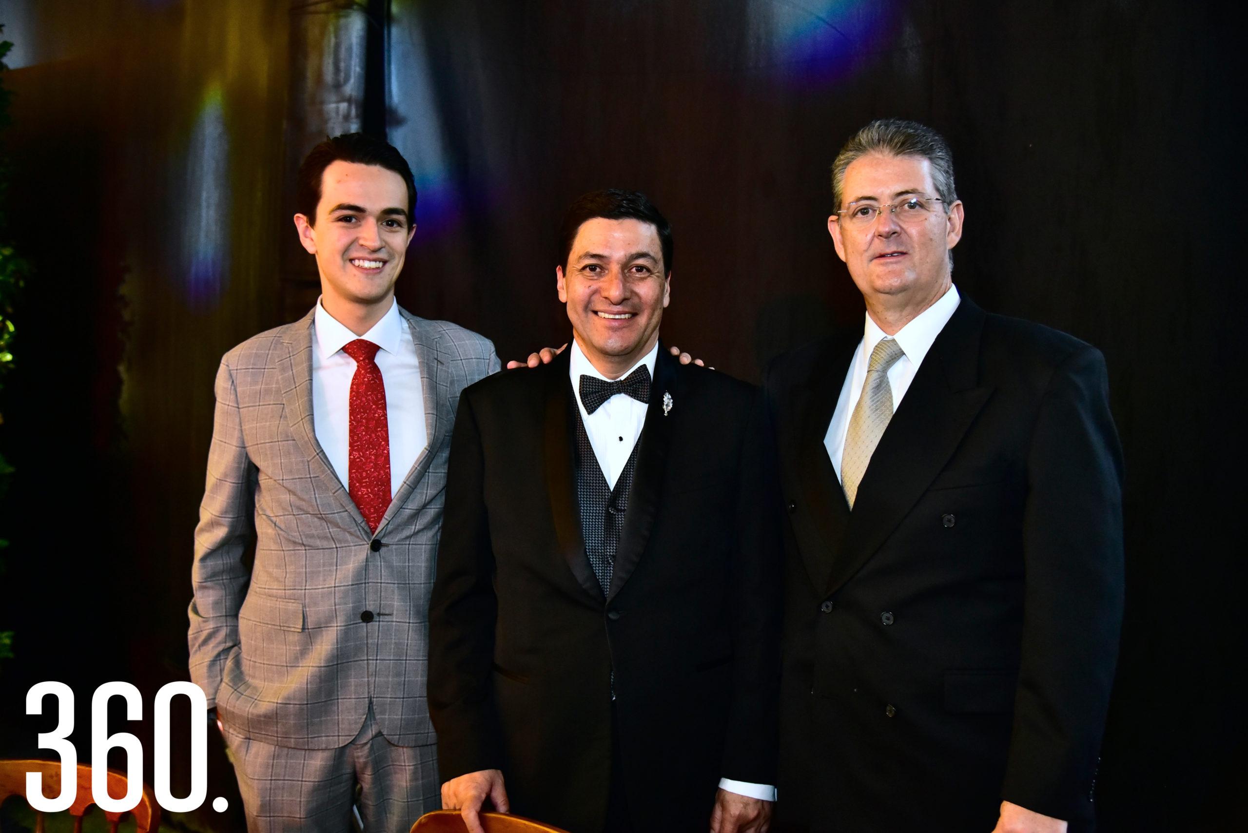 Bernardo López, Jorge Luis Chávez y Bernardo López.