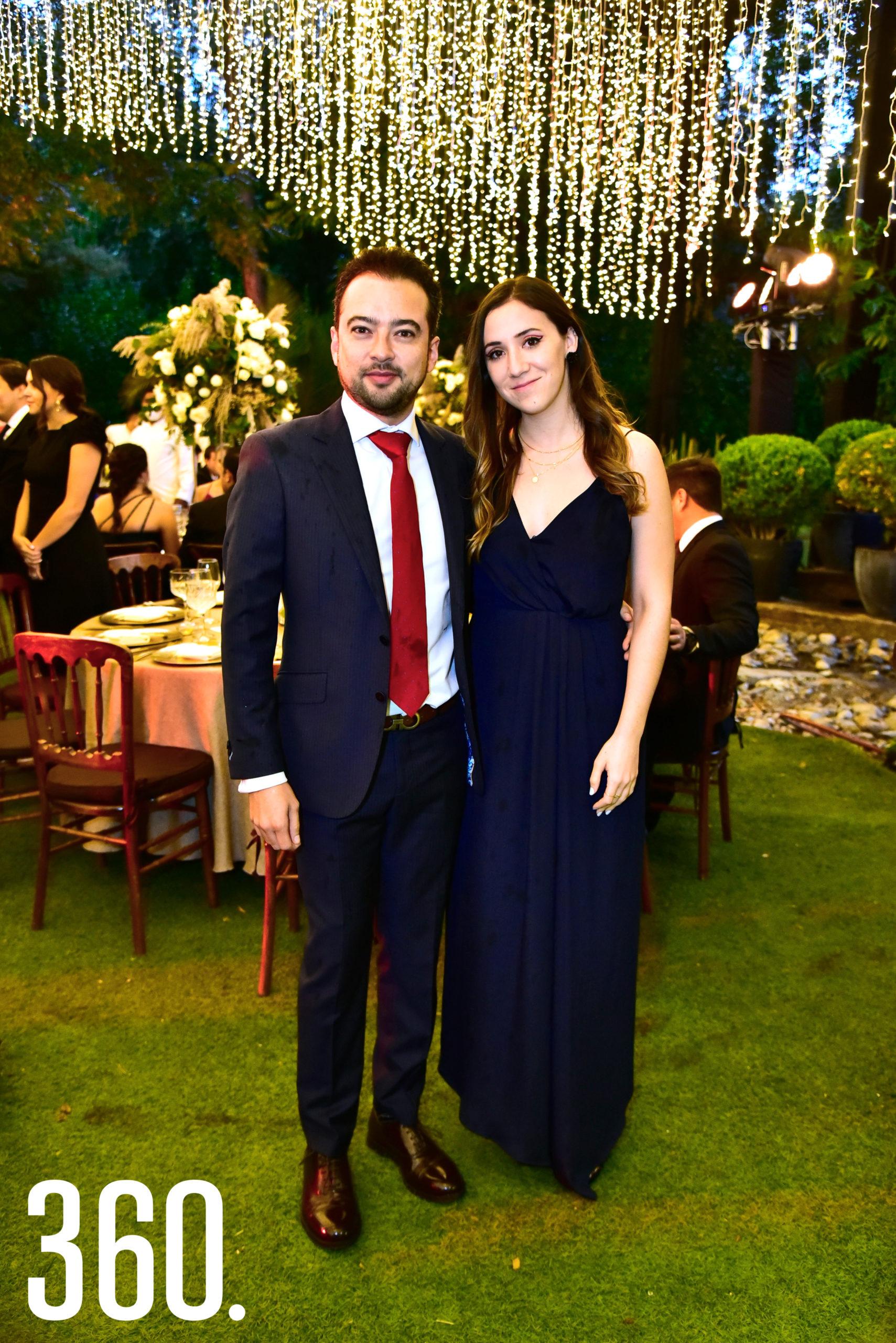 Luis Fernando Villarreal y Sofía de la Garza.