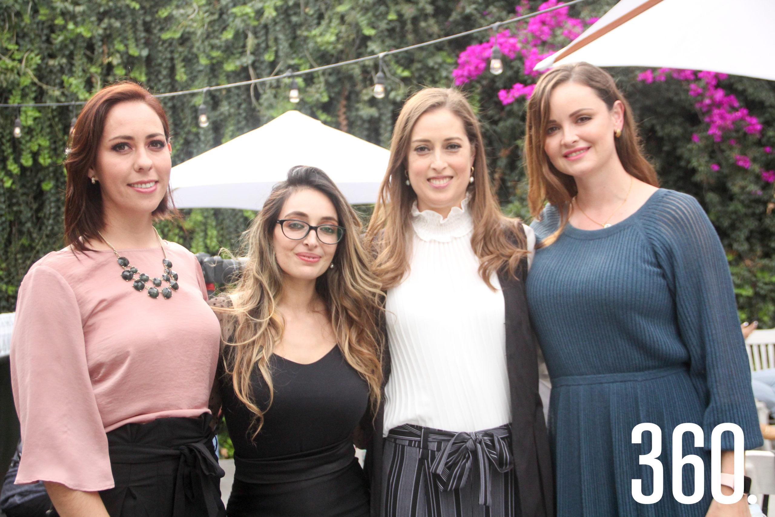 Angelica Dávila, Sarai López, Daniela Esparza y Paty García.