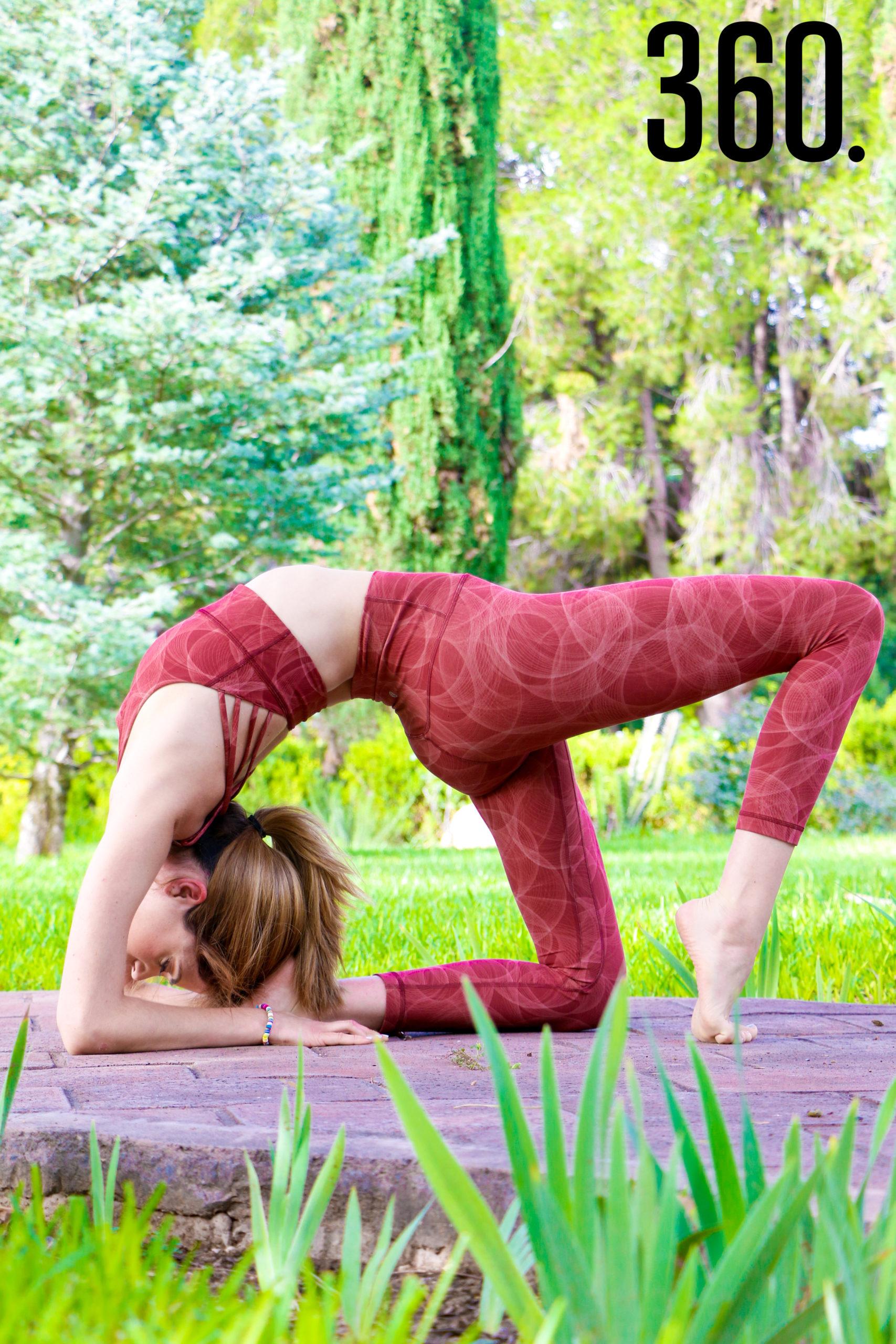 Conoció el yoga gracias a su mamá, quien la invitó a una clase.
