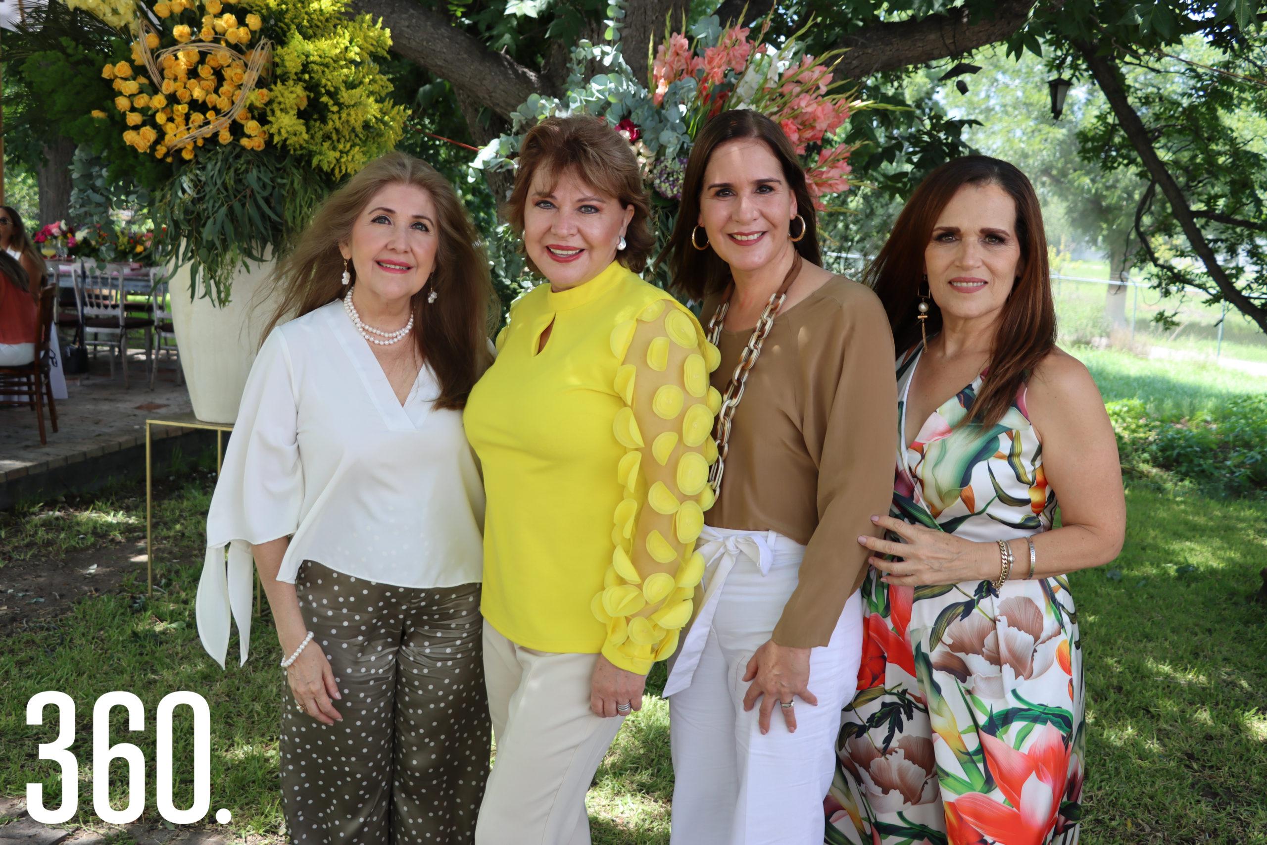 Aracely Alvarado, Delia Martha Villarreal, Tete Gómez y Rosy Márquez.