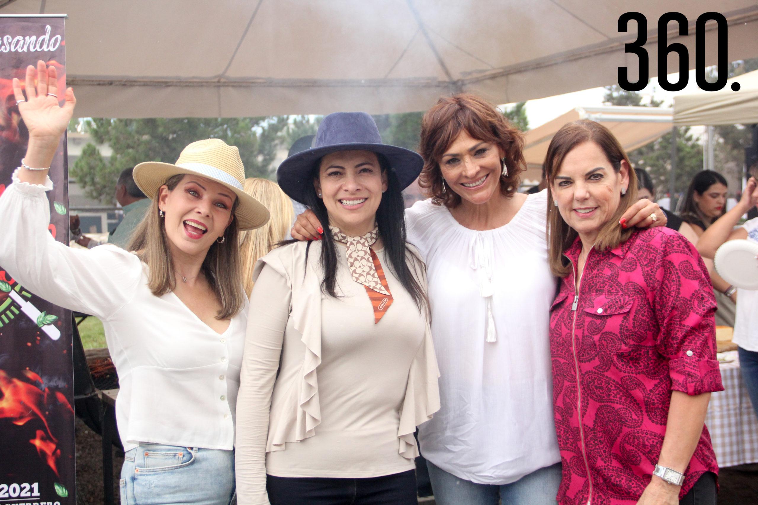 Andrea Cuevas, Lorena Cantú, Olivia Flores y Rosa María Montiel.