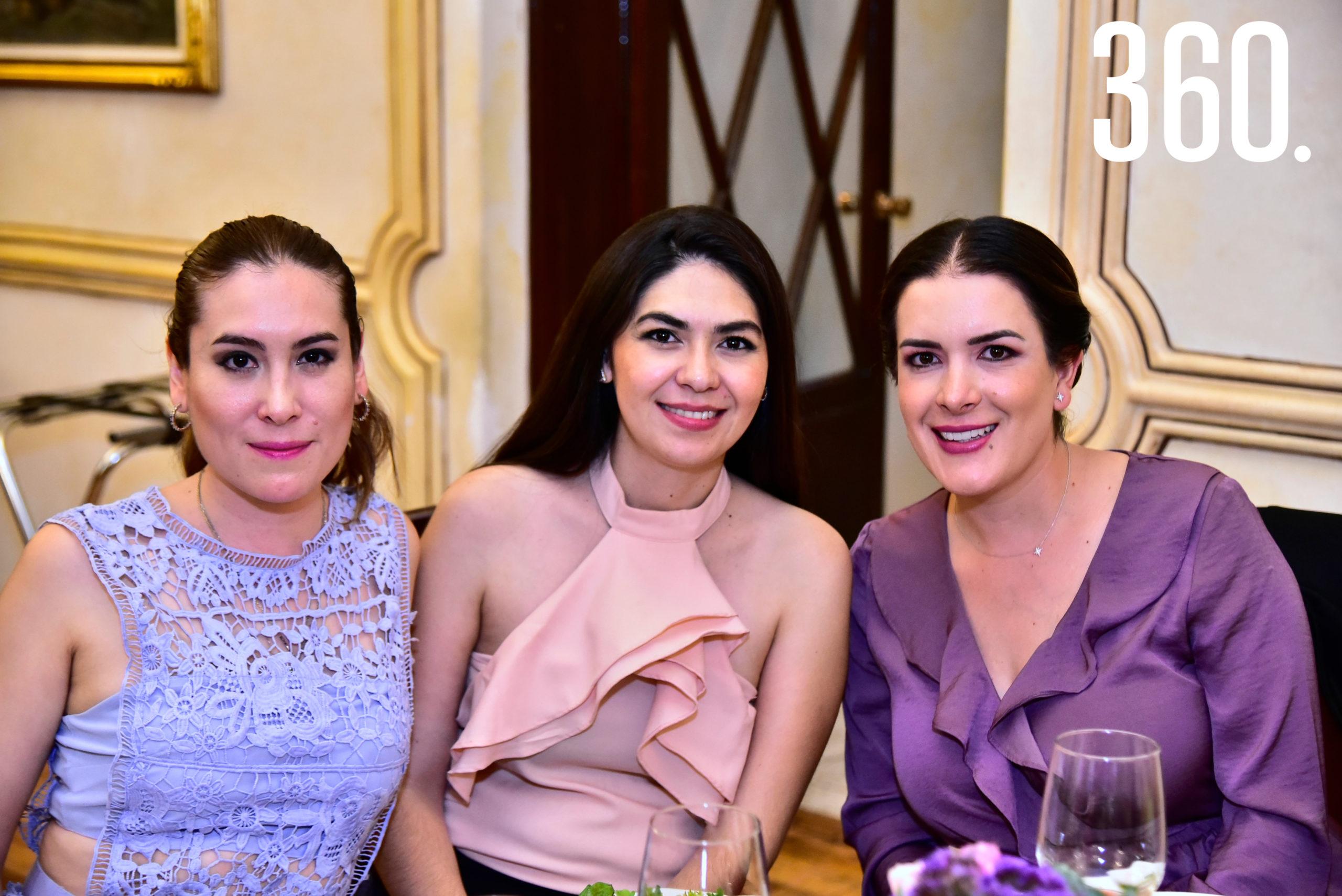 Sofía Oranday, Gaby Garza y Elsa Dávila.