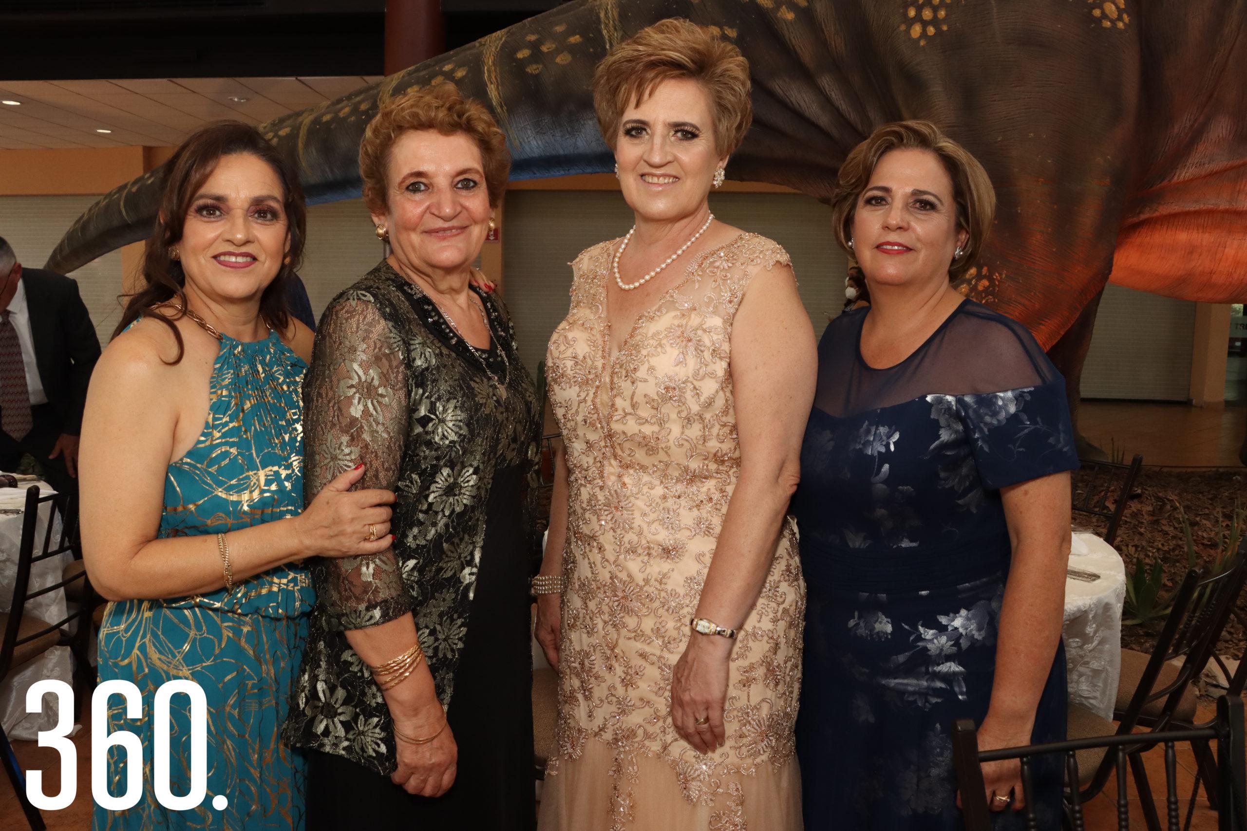 Thelma Aragón, Aracely Oyervides, Gina Rodríguez y Claudia Falcón.